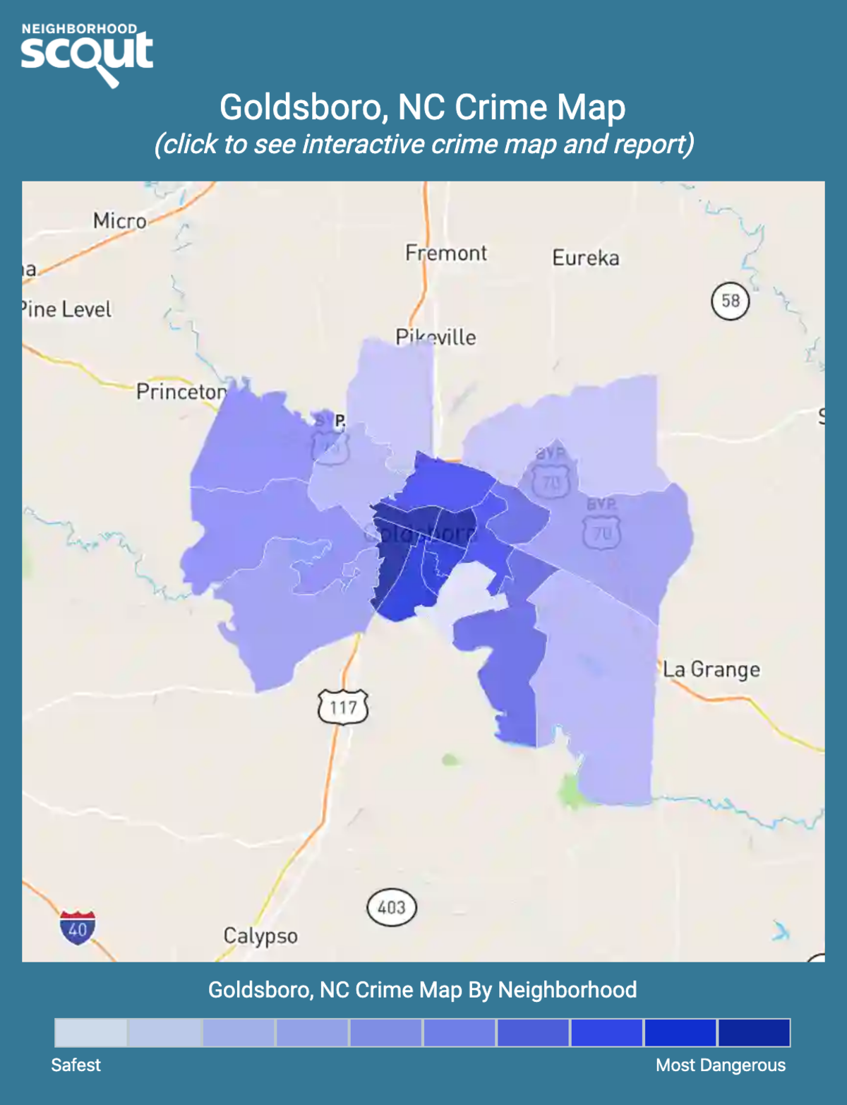 Goldsboro, North Carolina crime map