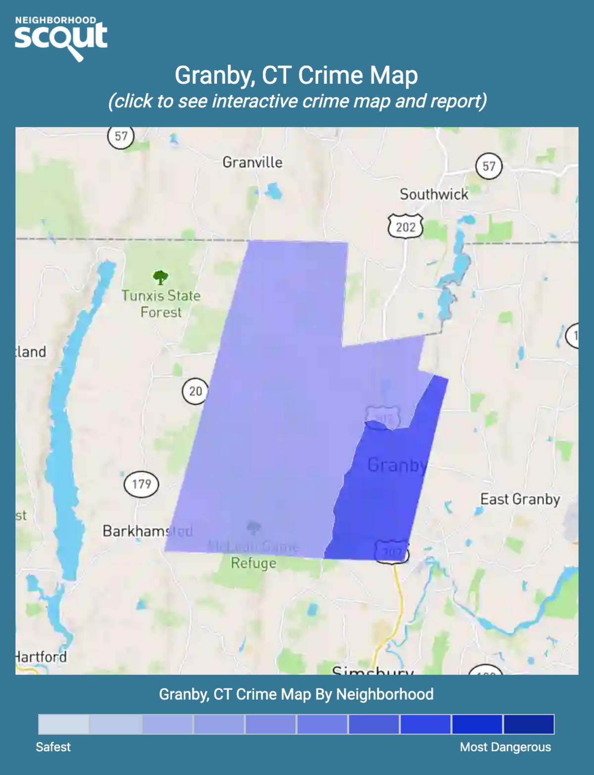 Granby, Connecticut crime map