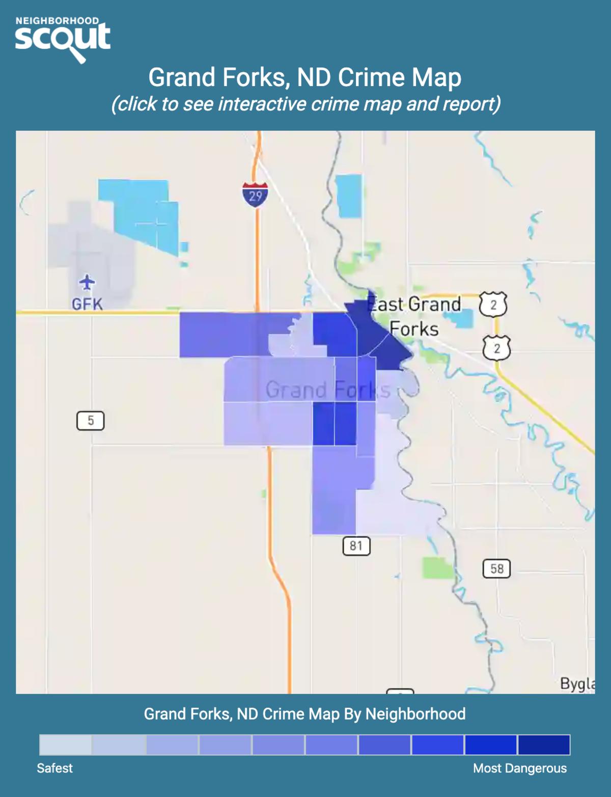 Grand Forks, North Dakota crime map