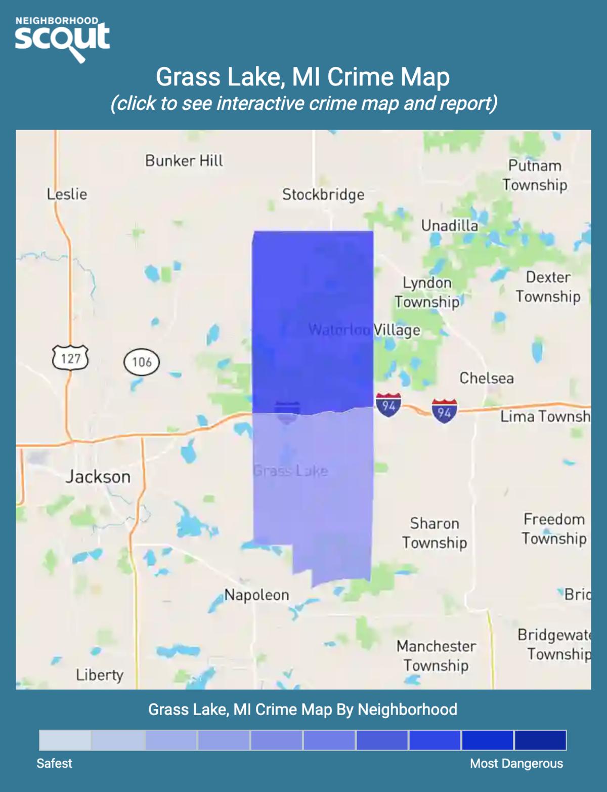 Grass Lake, Michigan crime map