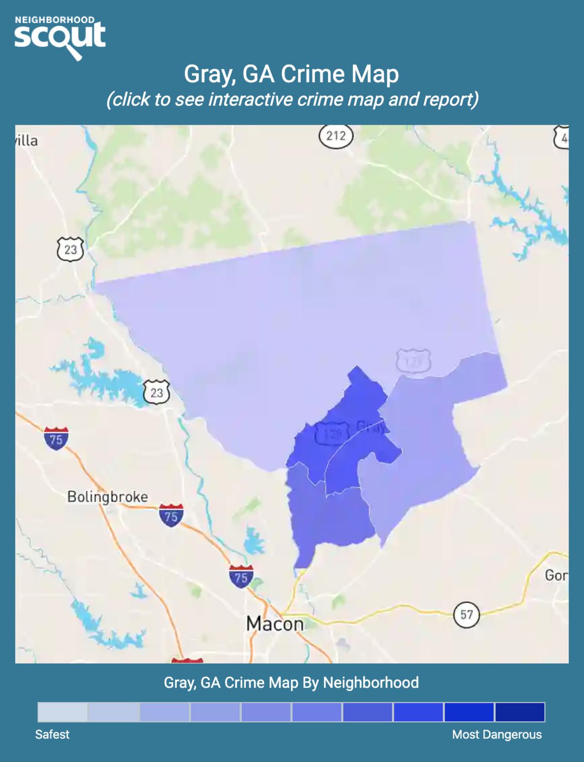 Gray, Georgia crime map