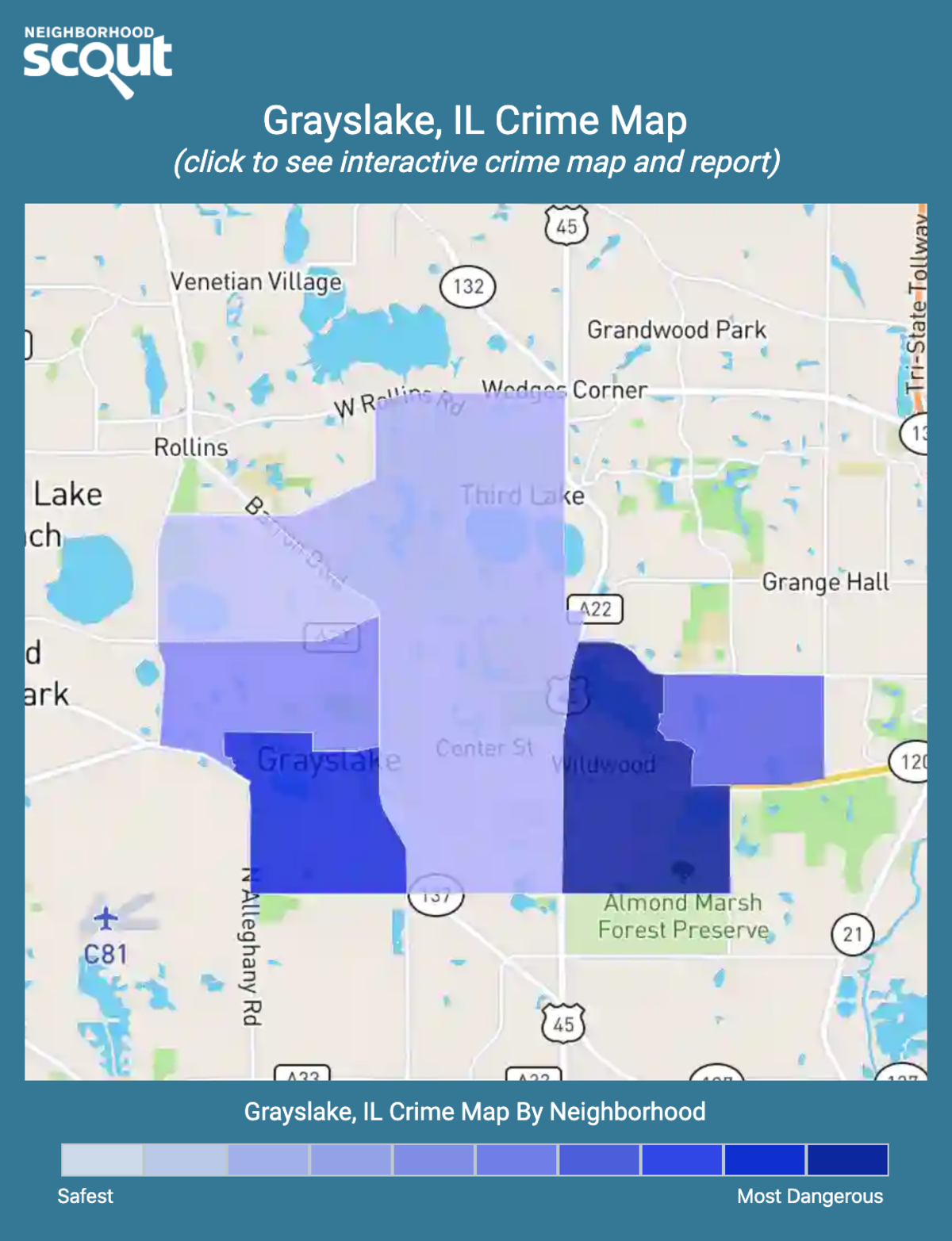 Grayslake, Illinois crime map