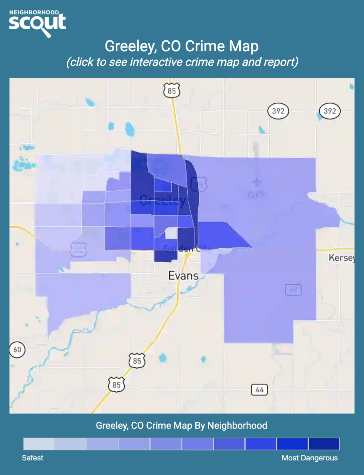 Greeley, Colorado crime map