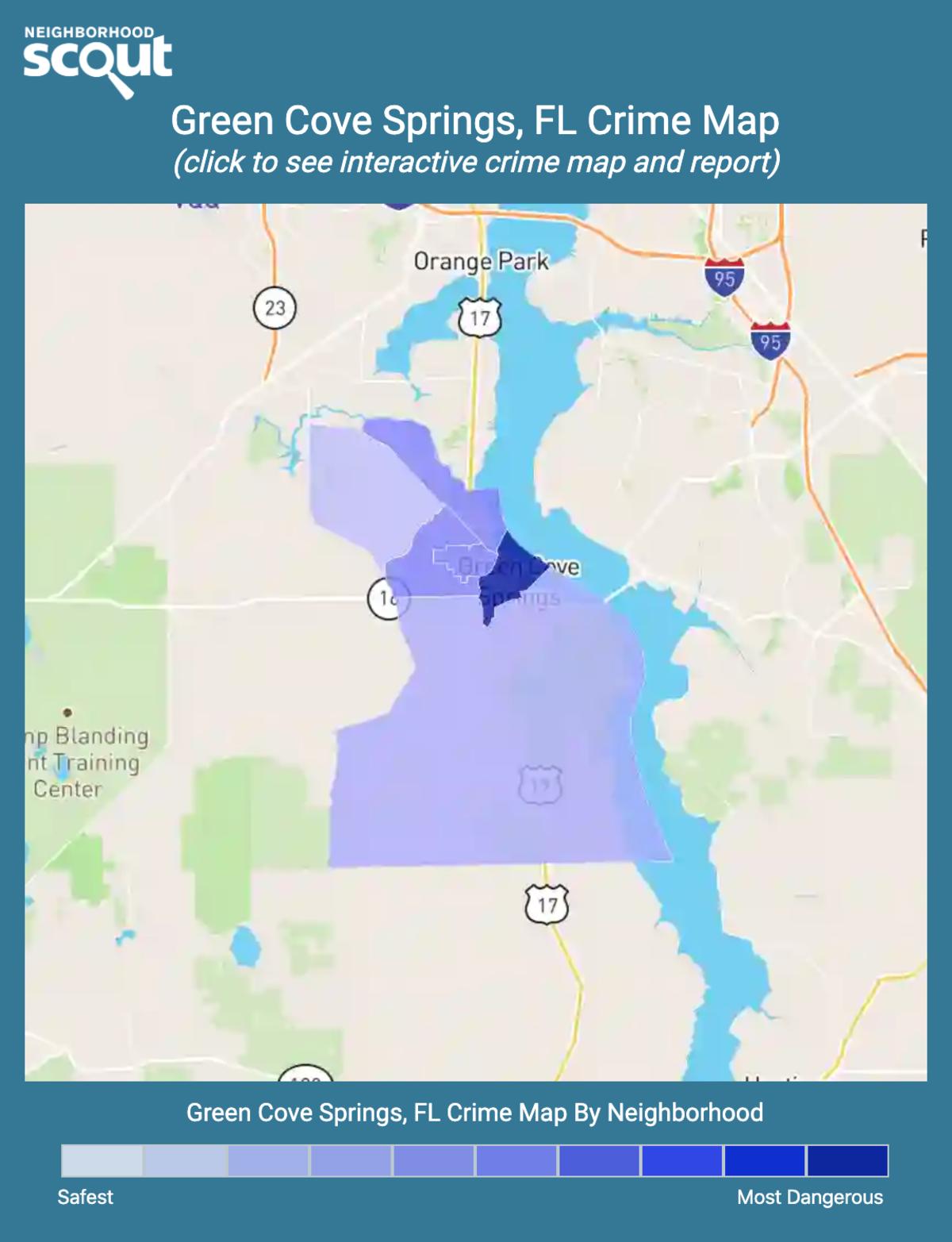 Green Cove Springs, Florida crime map