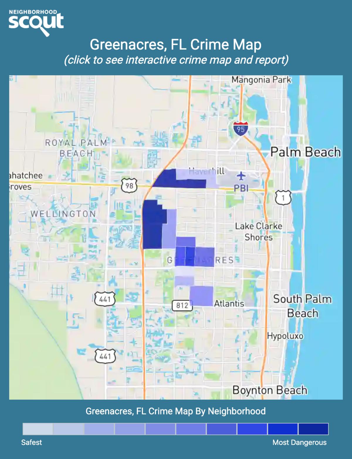 Greenacres, Florida crime map