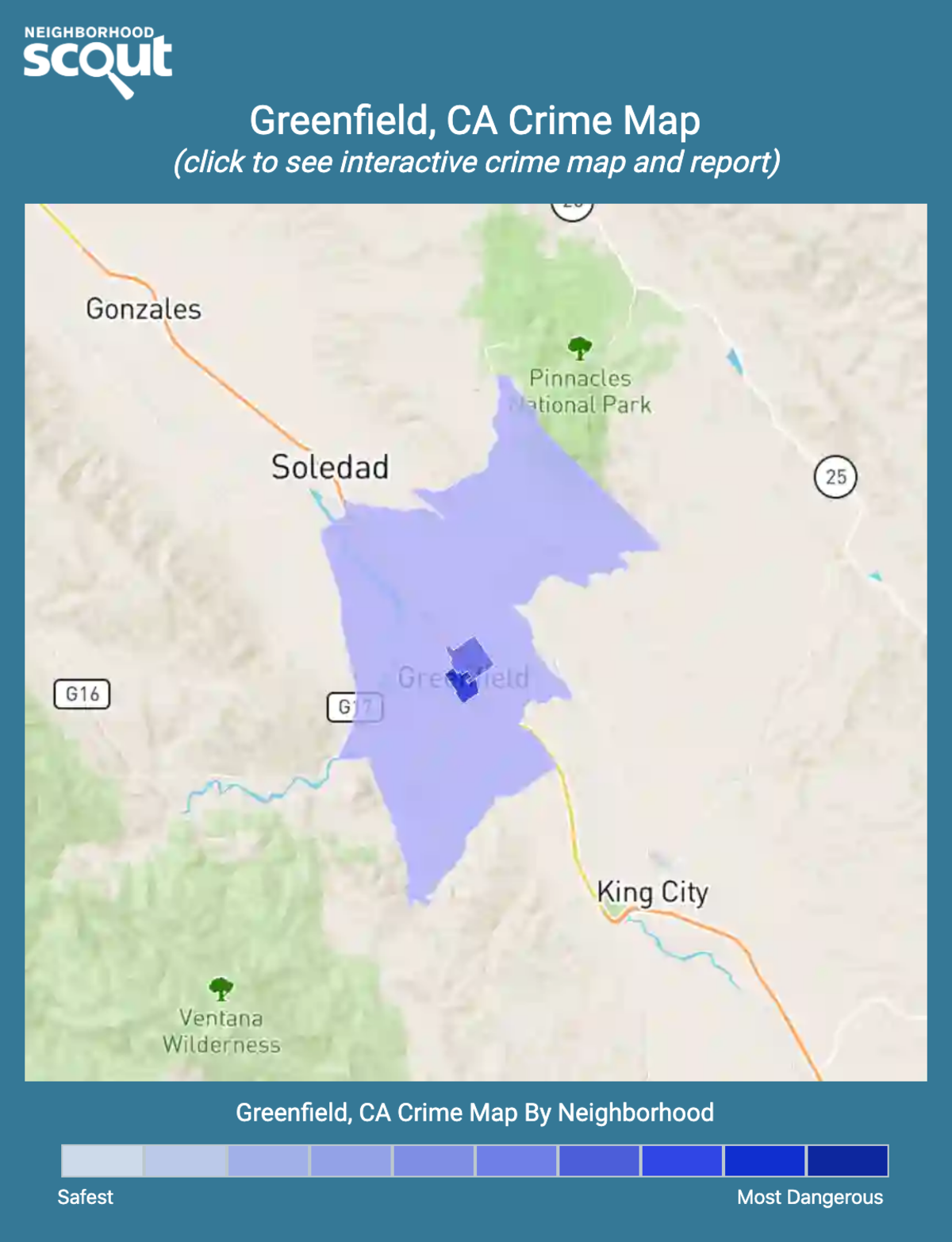 Greenfield, California crime map