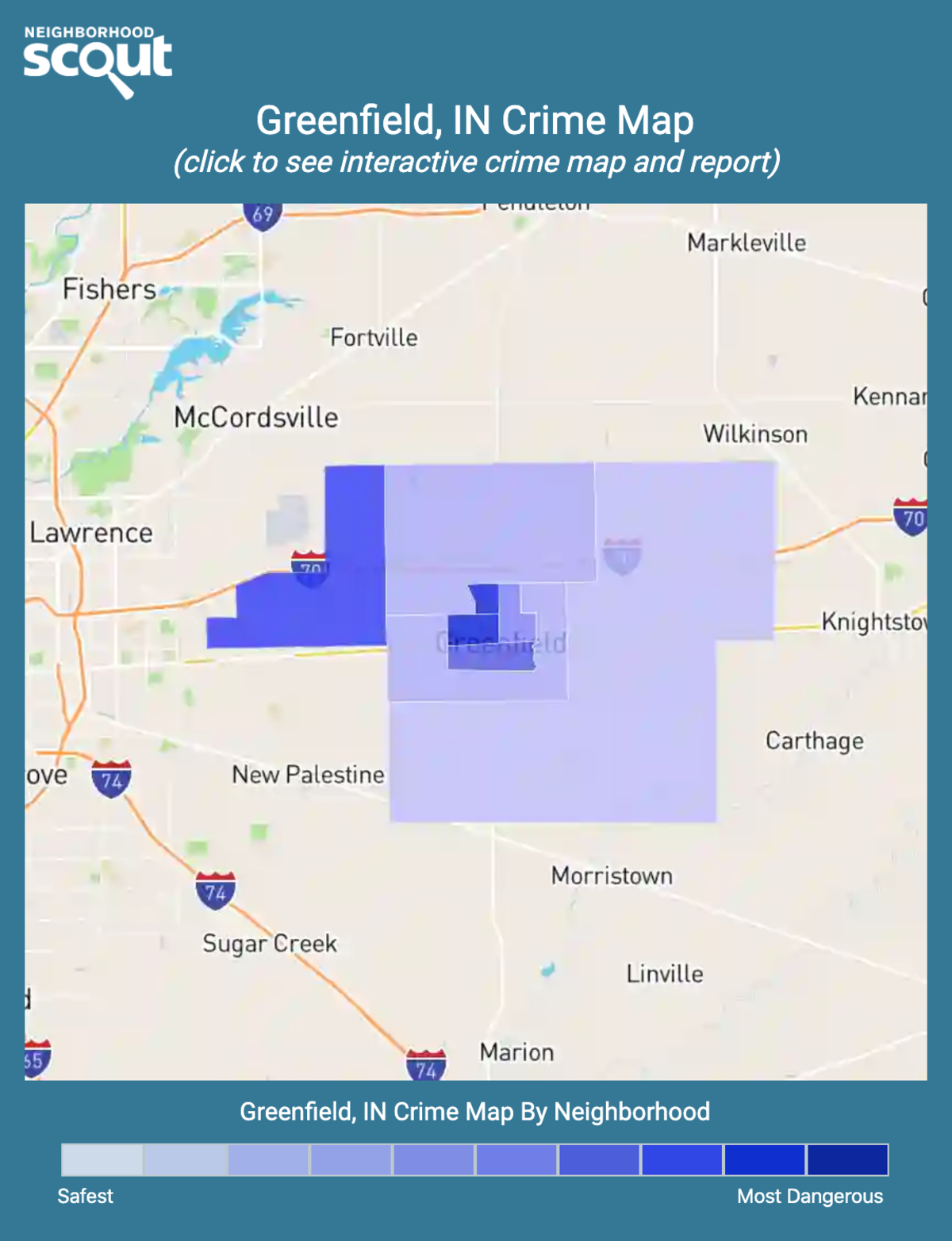 Greenfield, Indiana crime map