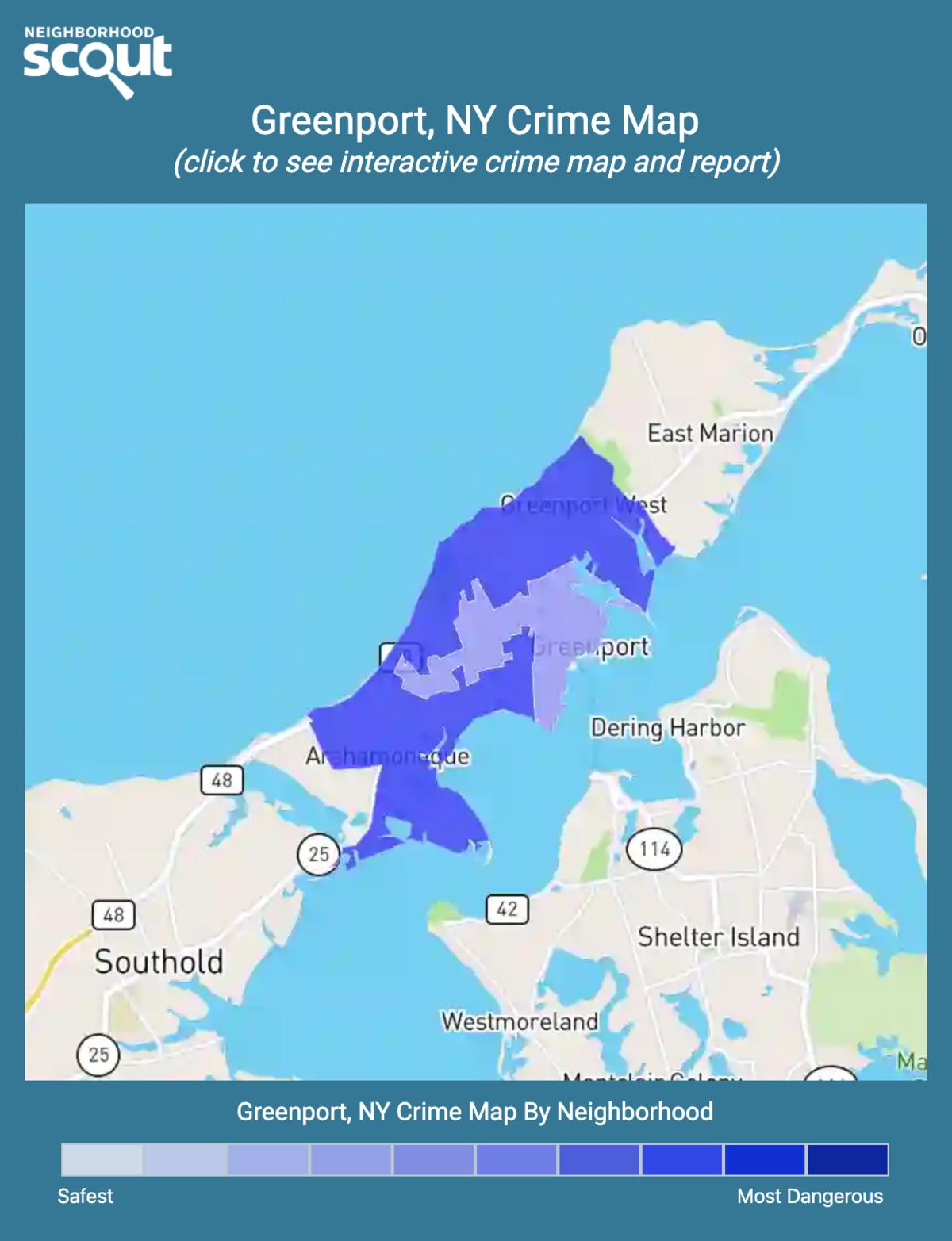 Greenport, New York crime map