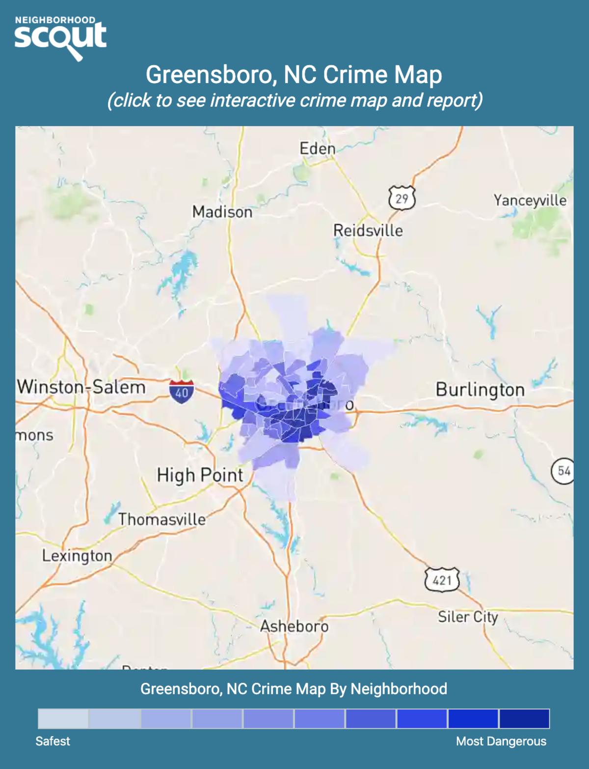 Greensboro, North Carolina crime map