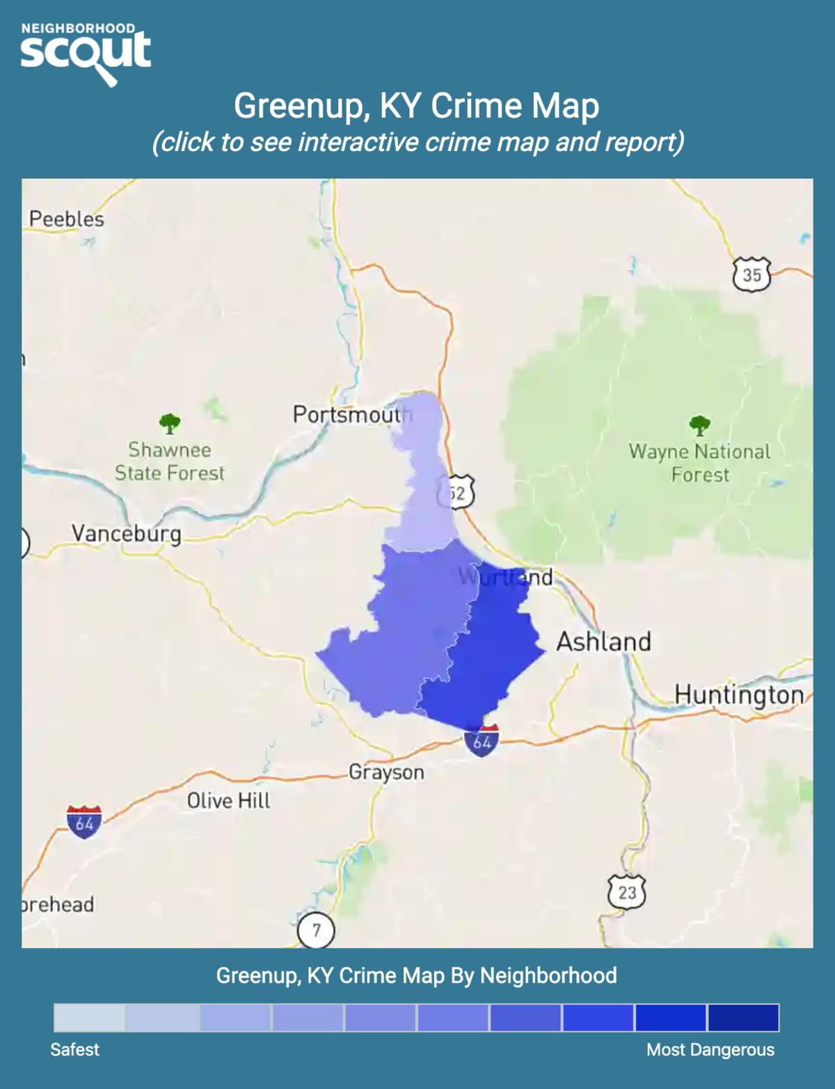 Greenup, Kentucky crime map
