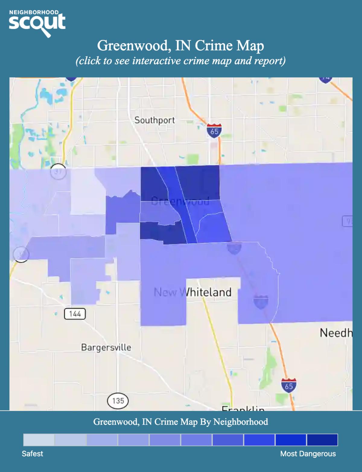 Greenwood, Indiana crime map