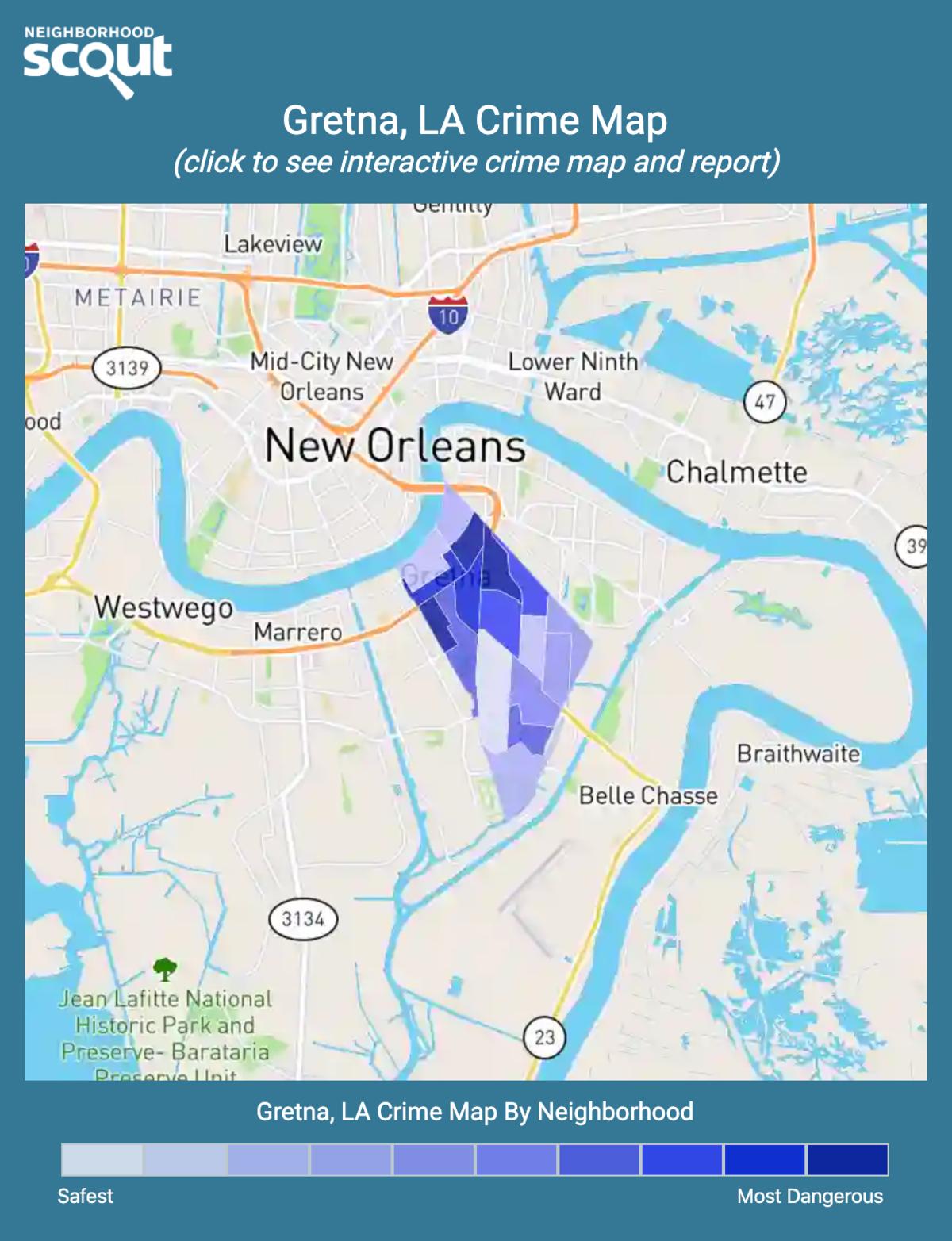 Gretna, Louisiana crime map