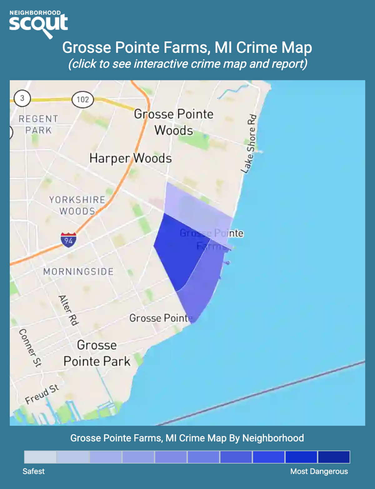 Grosse Pointe Farms, Michigan crime map