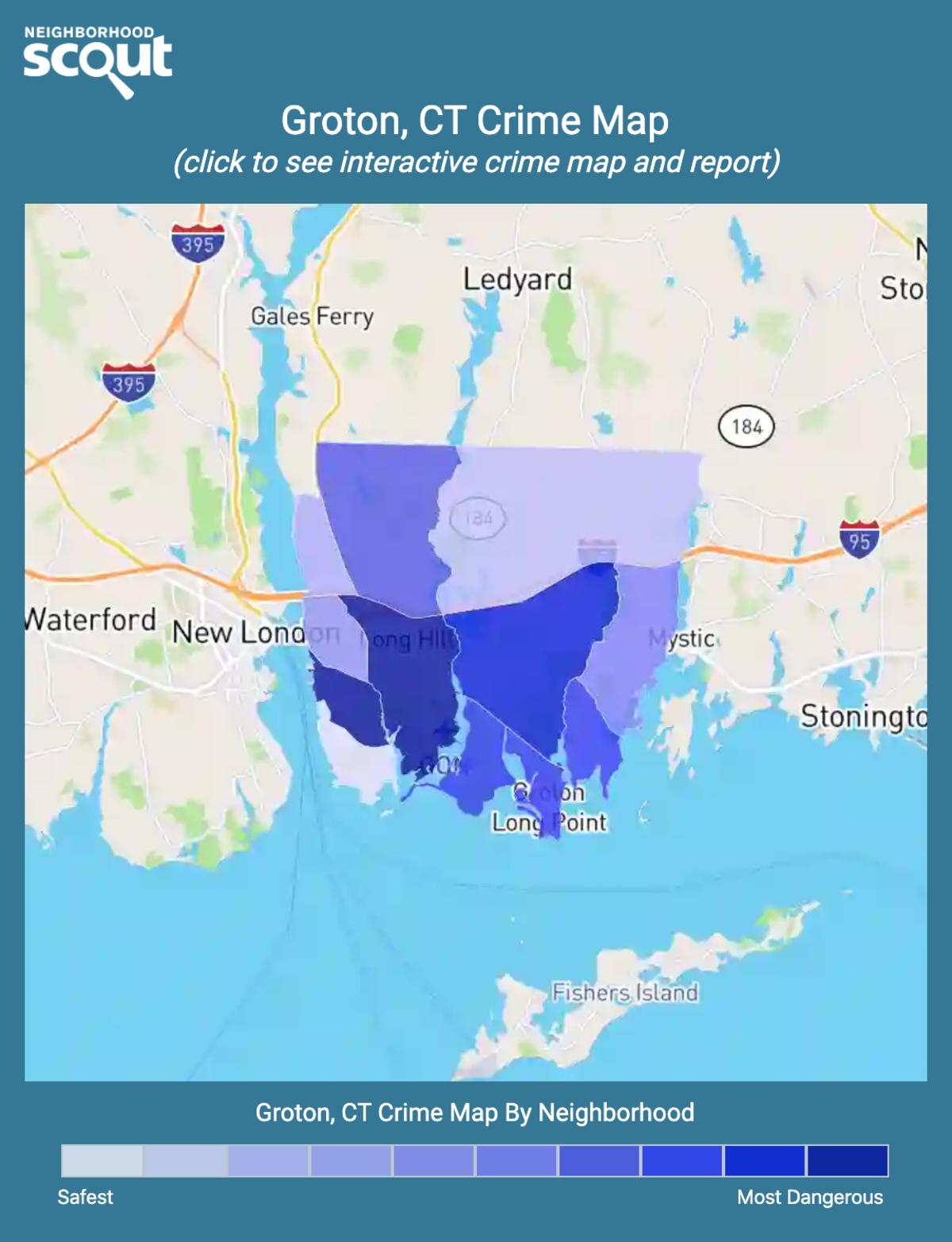 Groton, Connecticut crime map