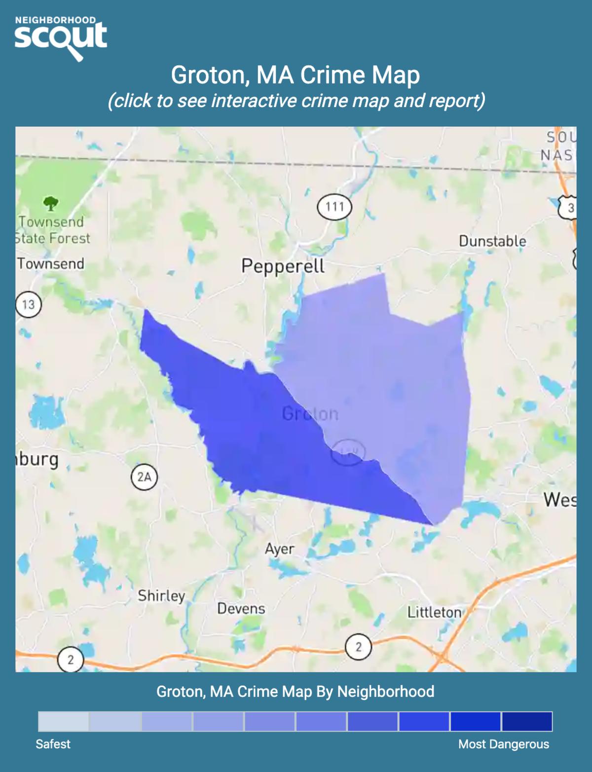 Groton, Massachusetts crime map