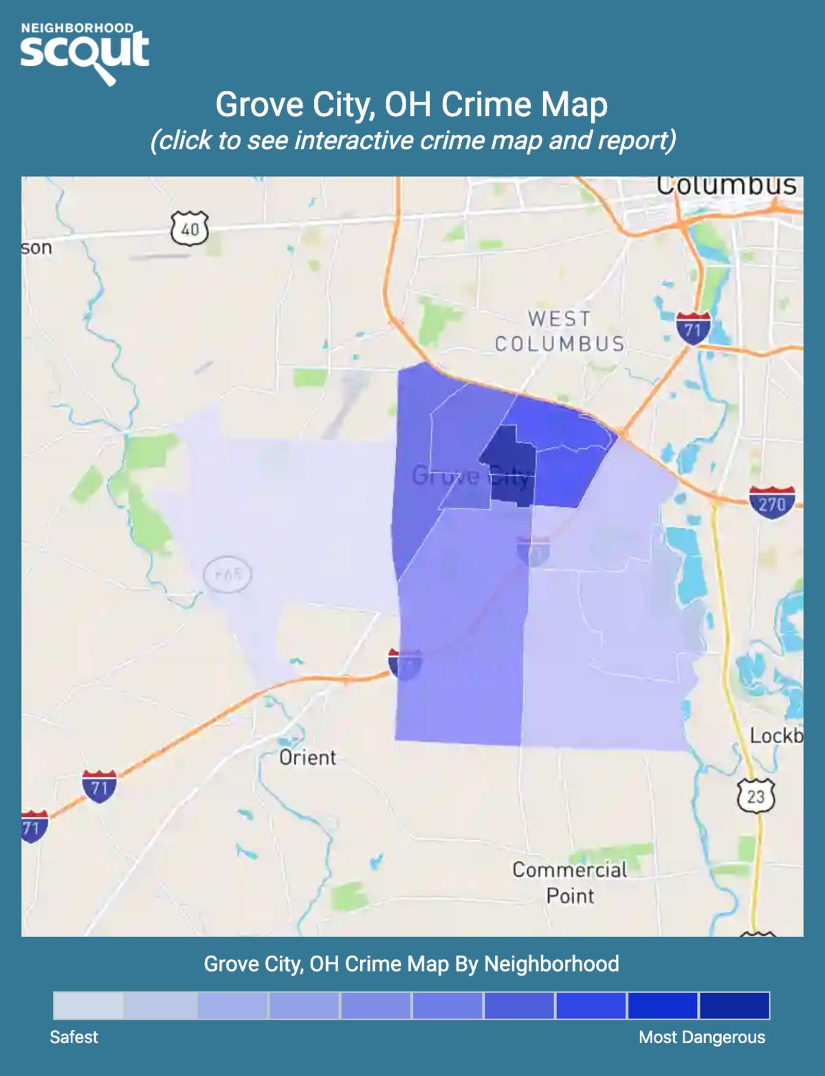 Grove City, Ohio crime map
