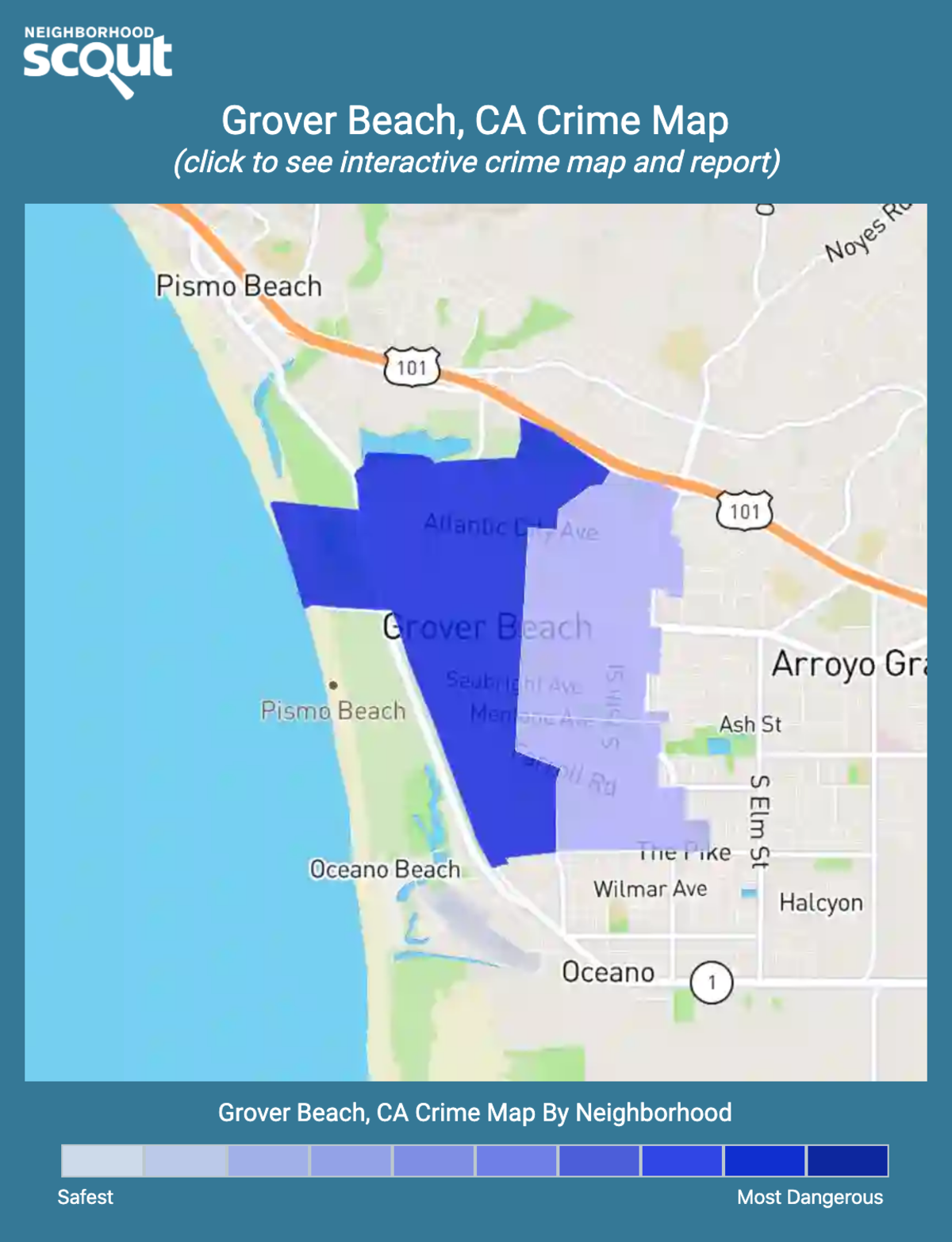 Grover Beach, California crime map