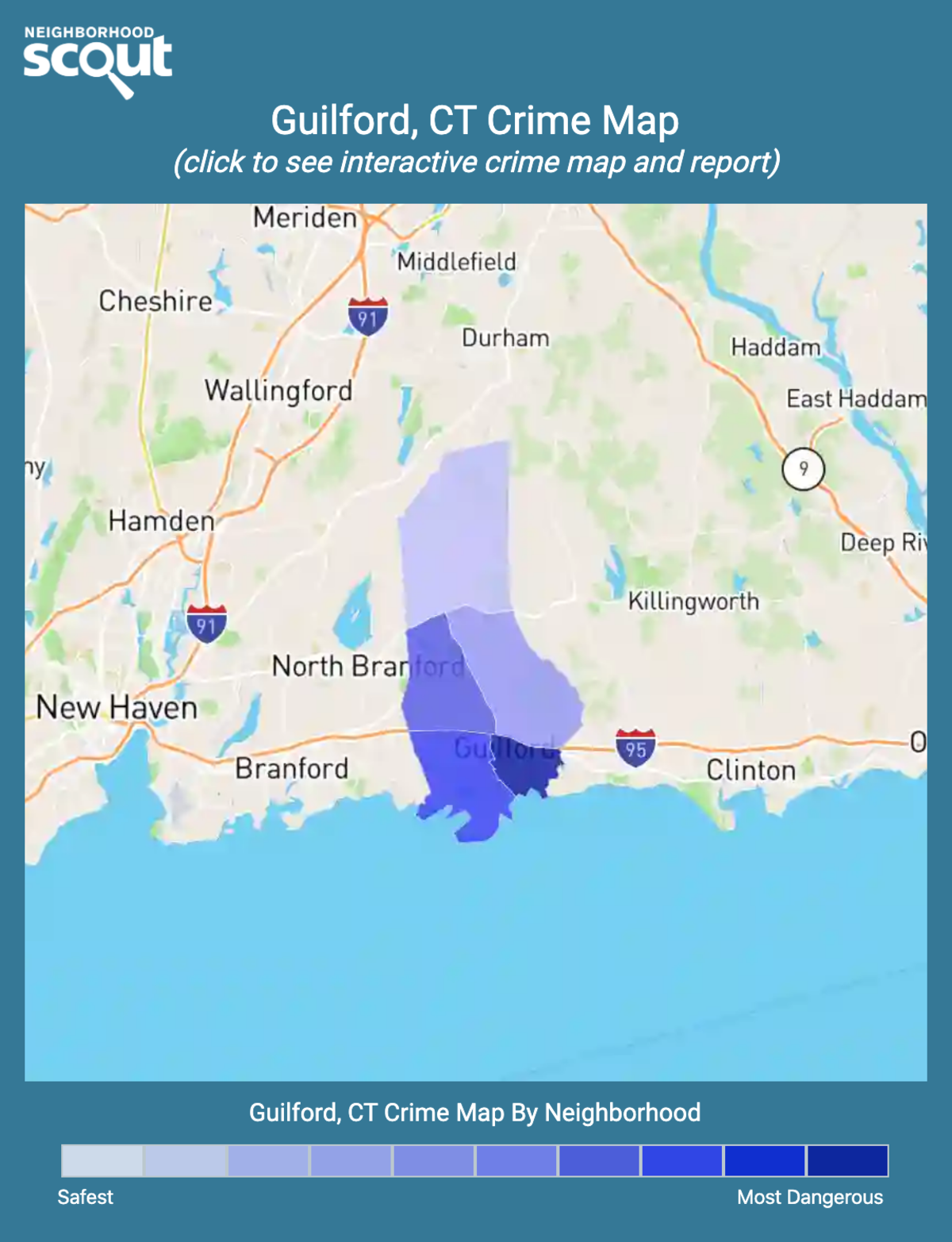 Guilford, Connecticut crime map