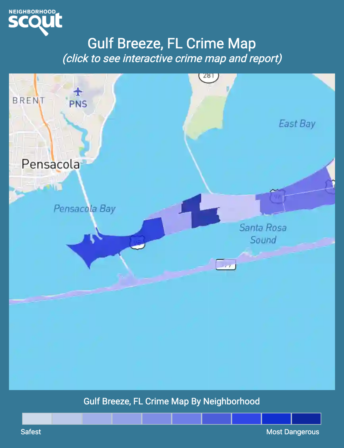 Gulf Breeze, Florida crime map