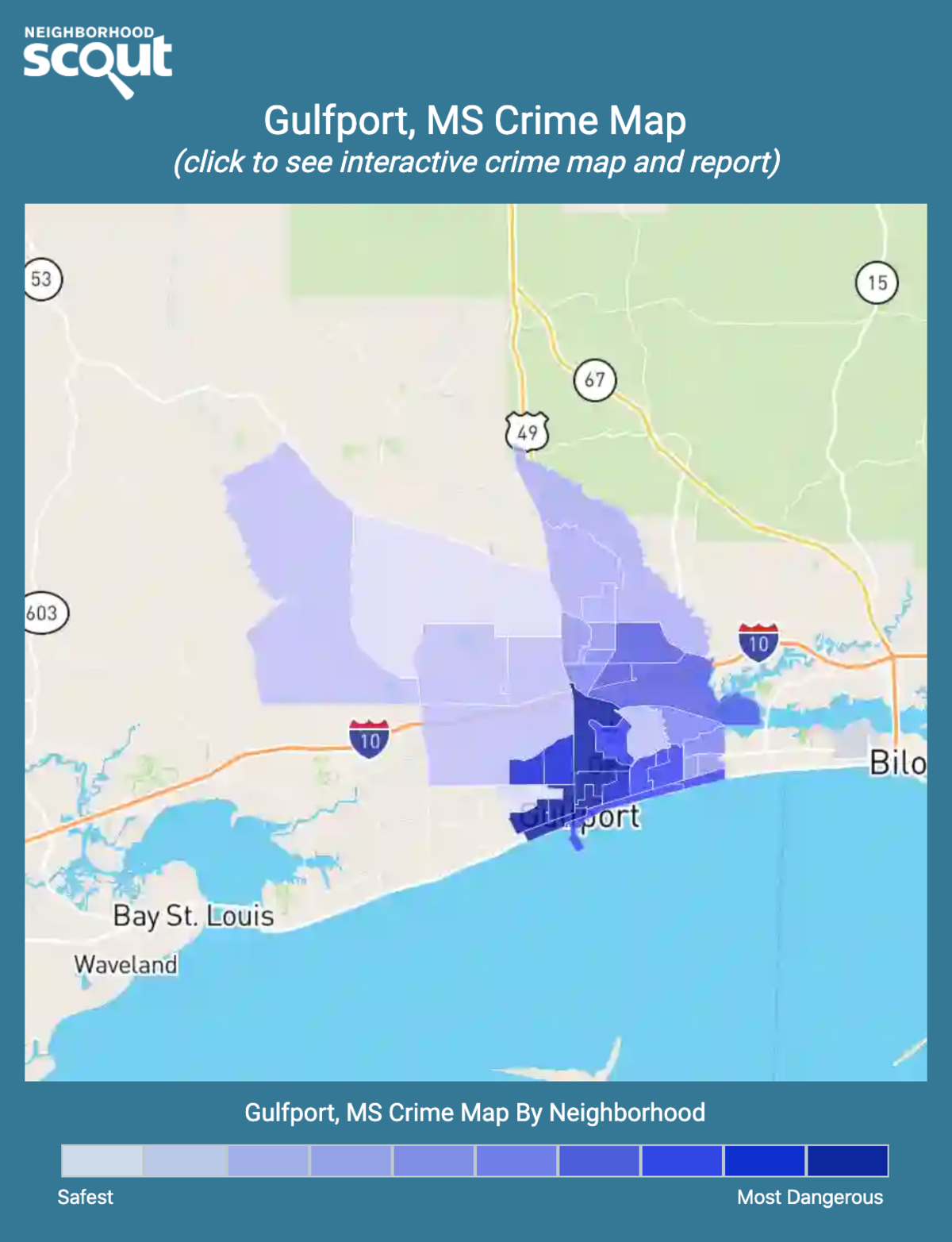 Gulfport, Mississippi crime map