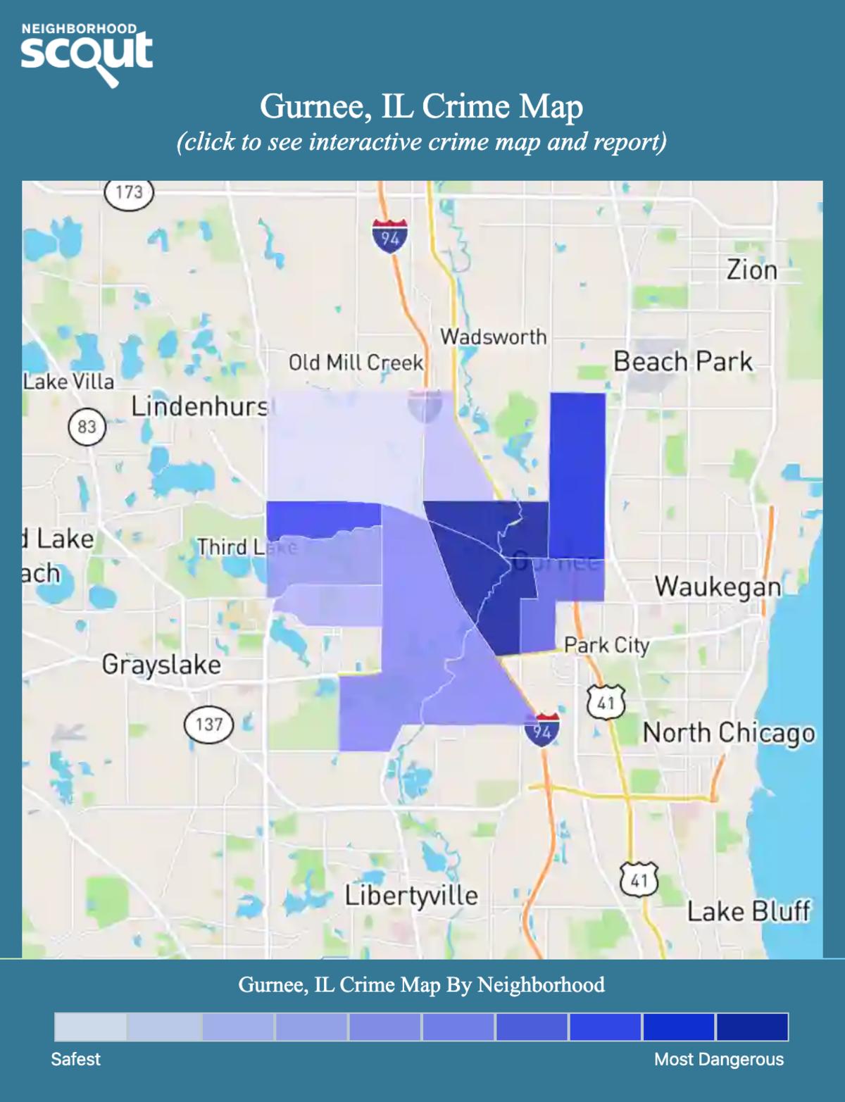 Gurnee, Illinois crime map