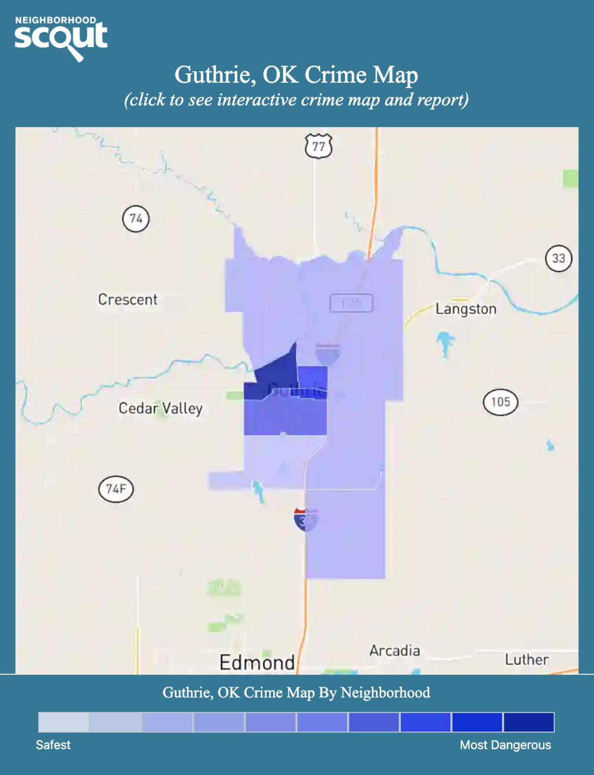 Guthrie, Oklahoma crime map