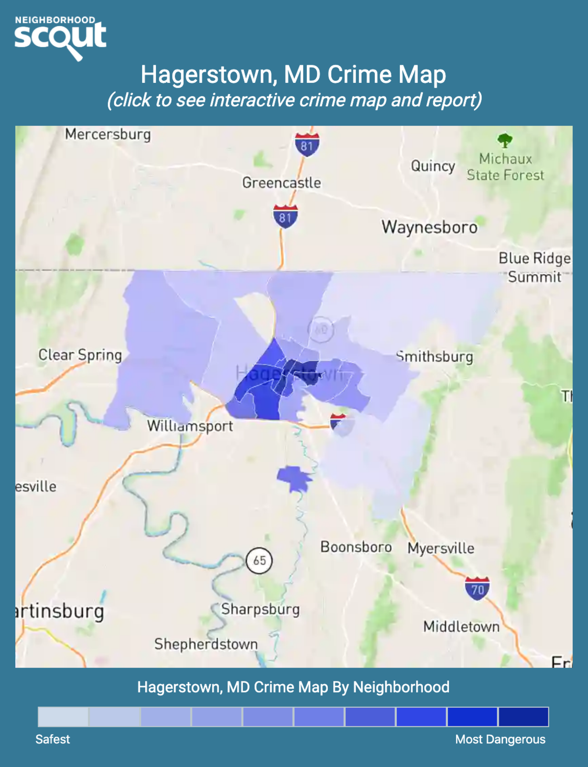 Hagerstown, Maryland crime map