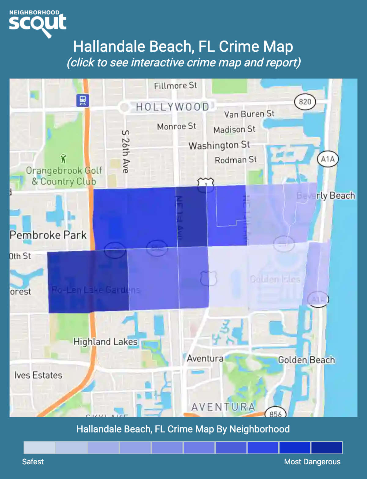 Hallandale Beach, Florida crime map