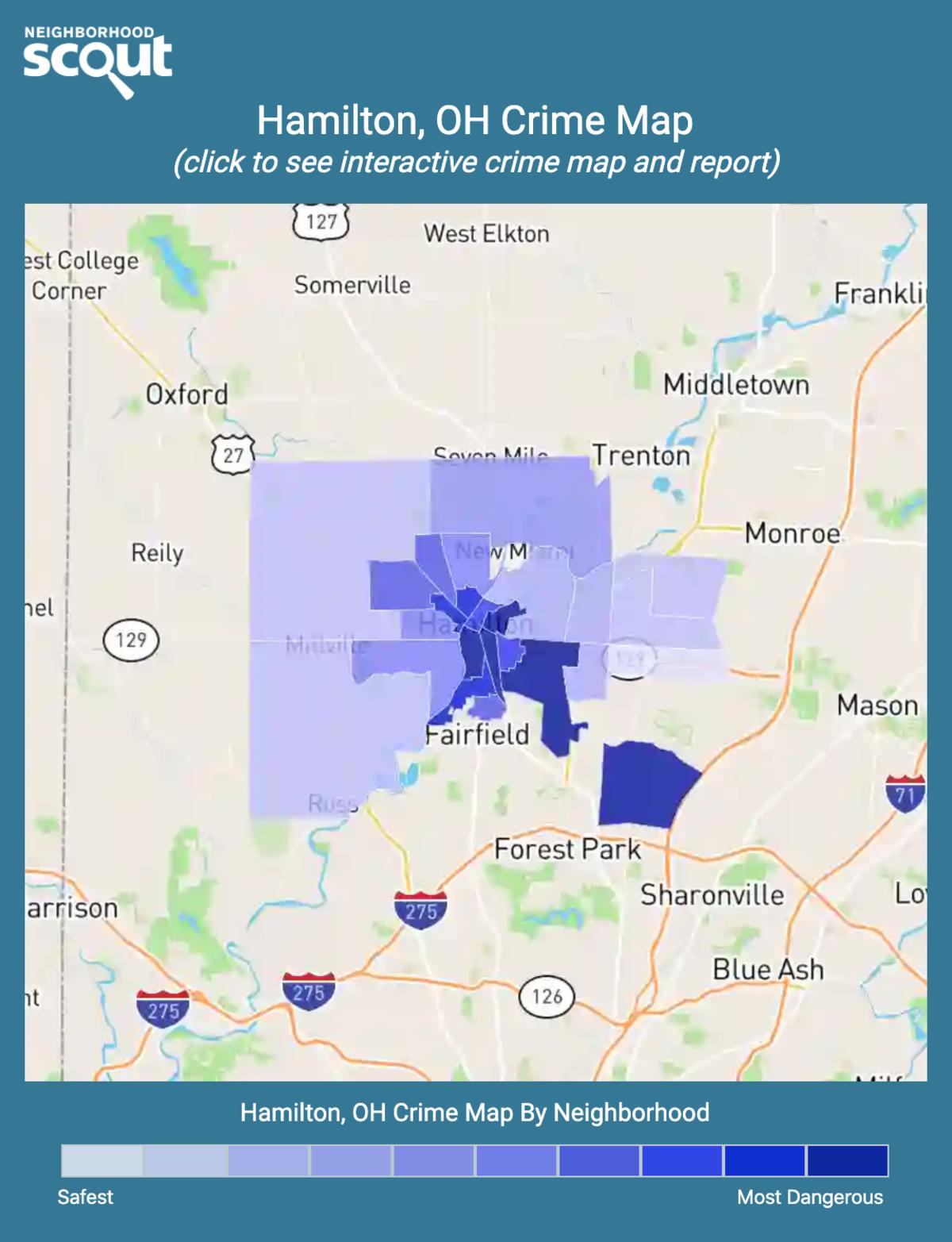 Hamilton, Ohio crime map