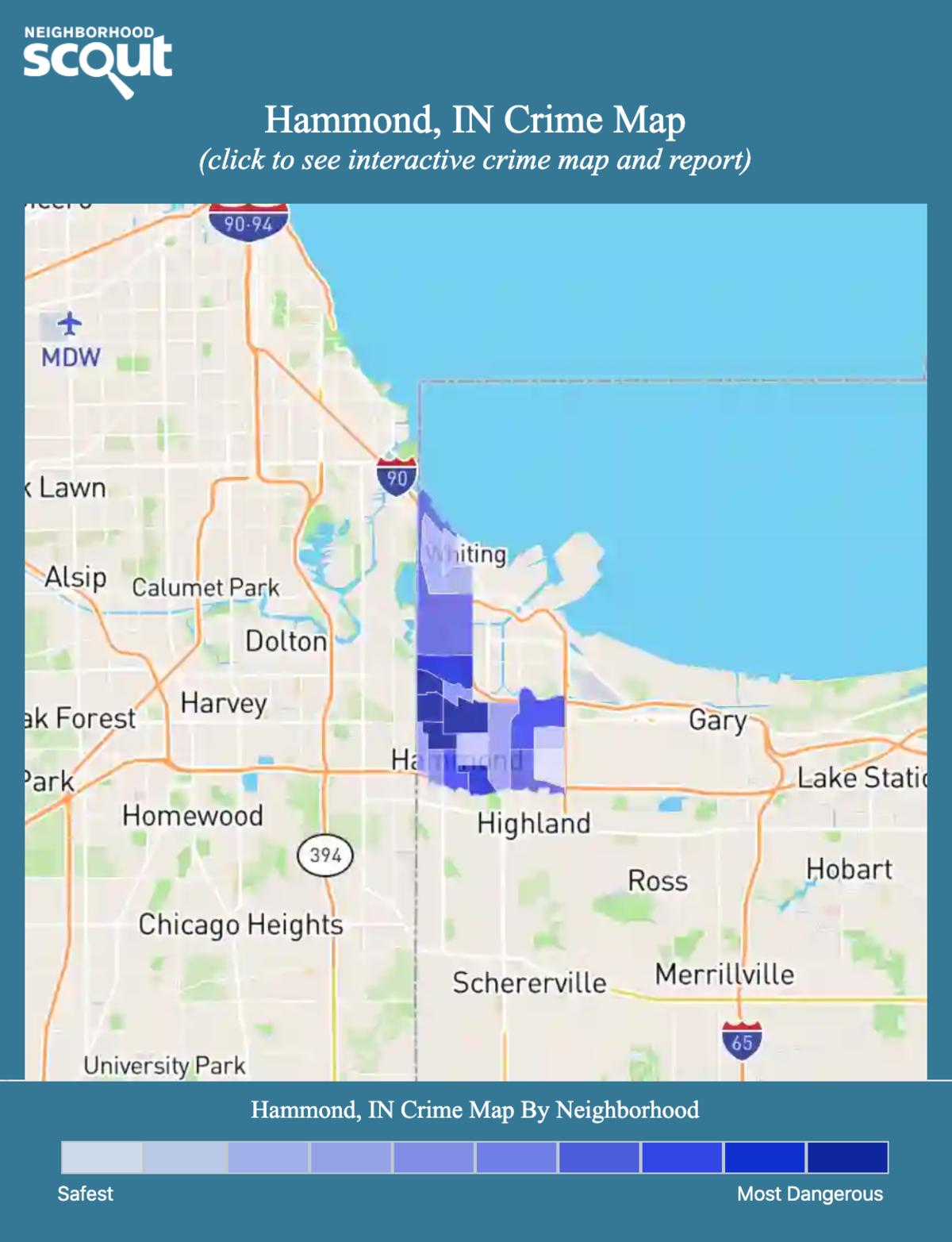 Hammond, Indiana crime map
