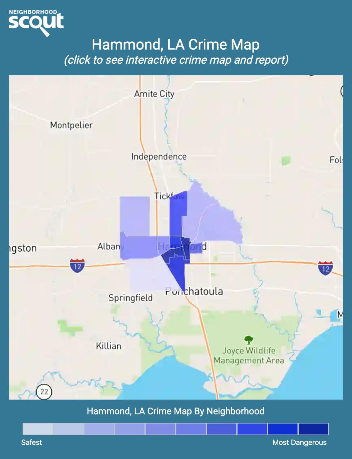 Hammond, Louisiana crime map