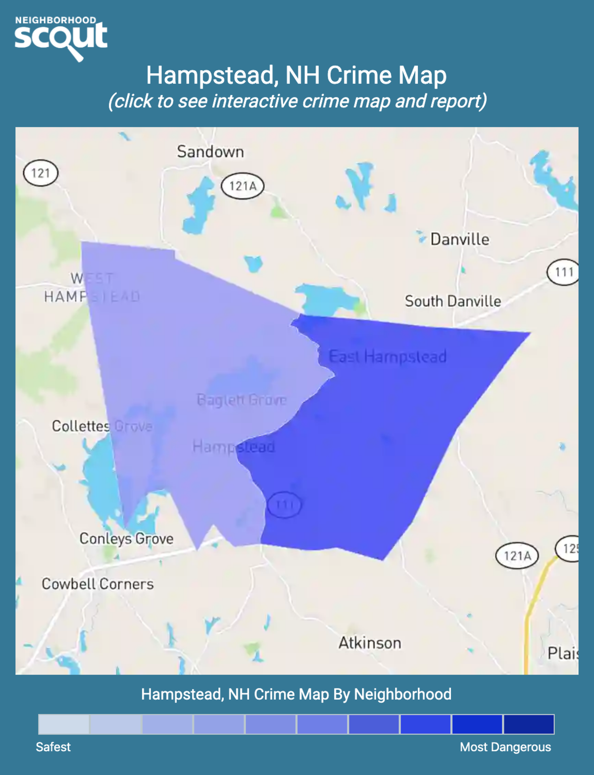 Hampstead, New Hampshire crime map