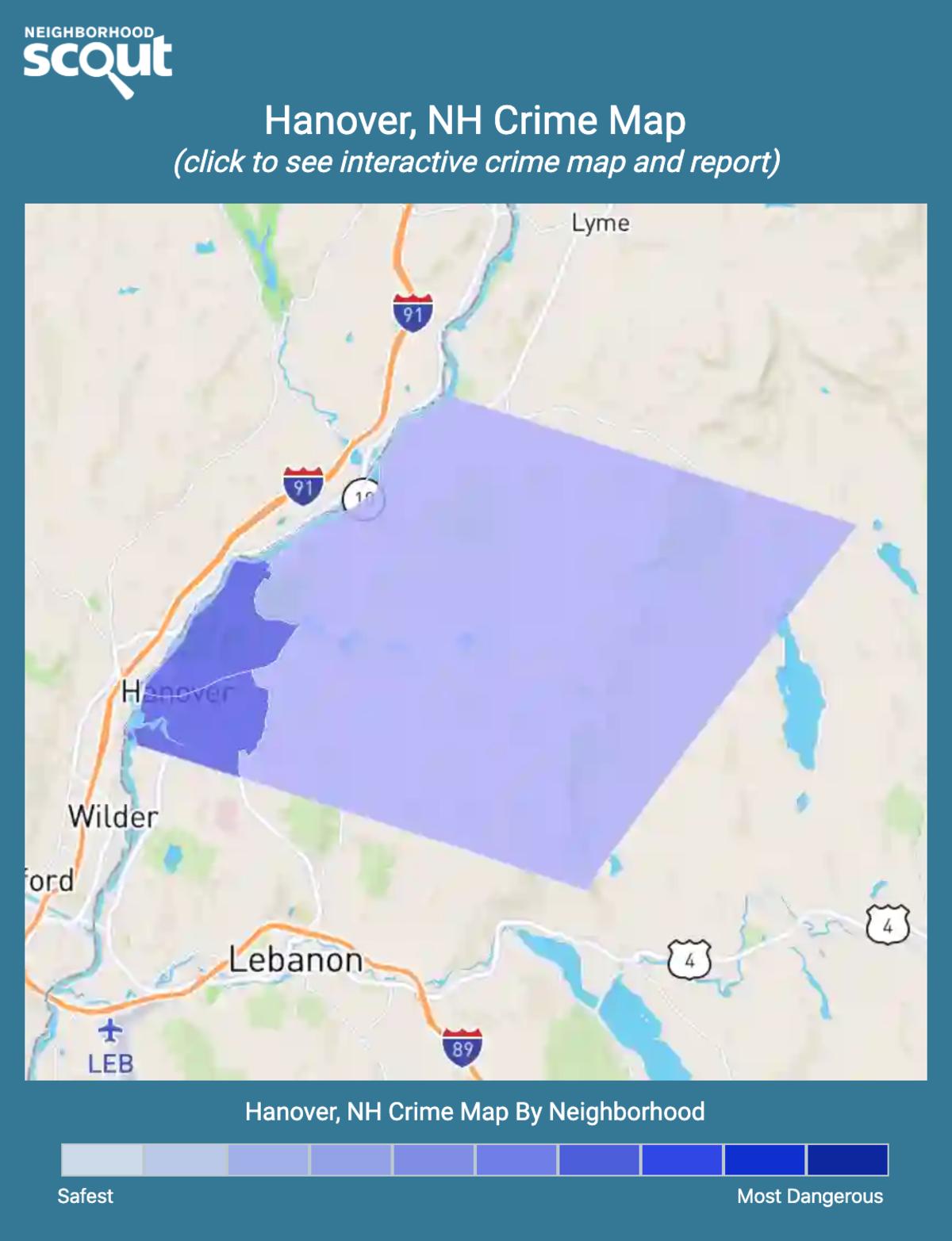 Hanover, New Hampshire crime map