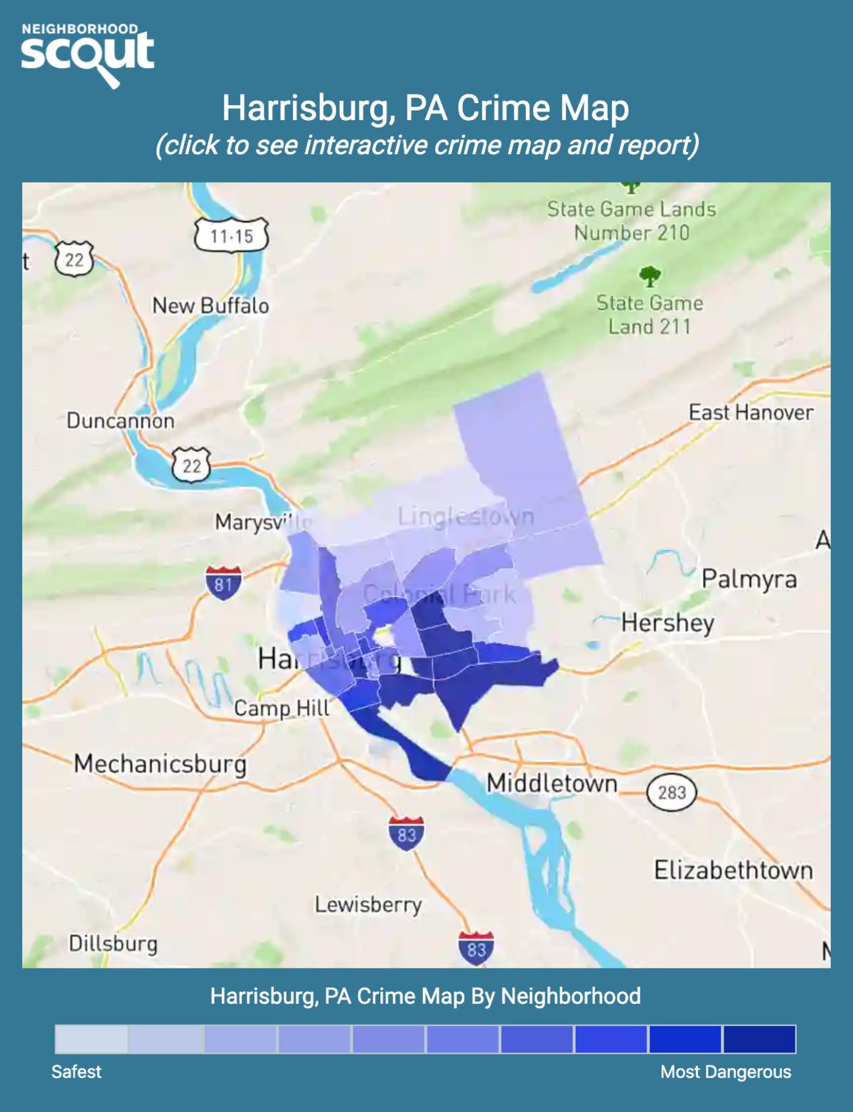 Harrisburg, Pennsylvania crime map