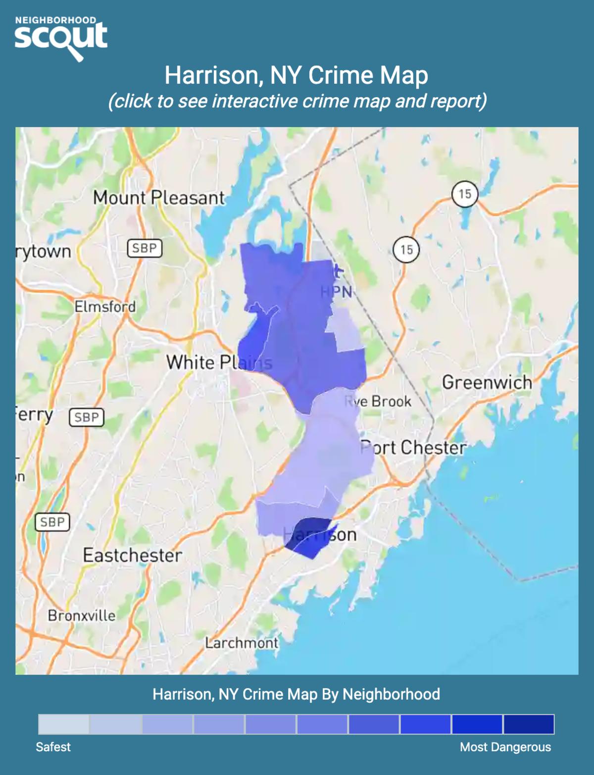 Harrison, New York crime map