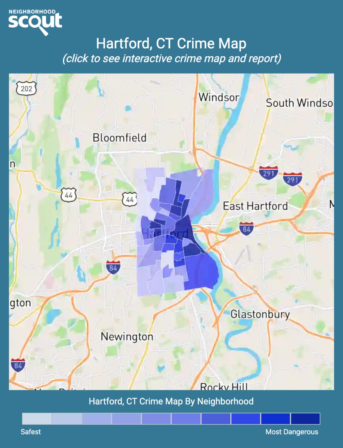 Hartford, Connecticut crime map