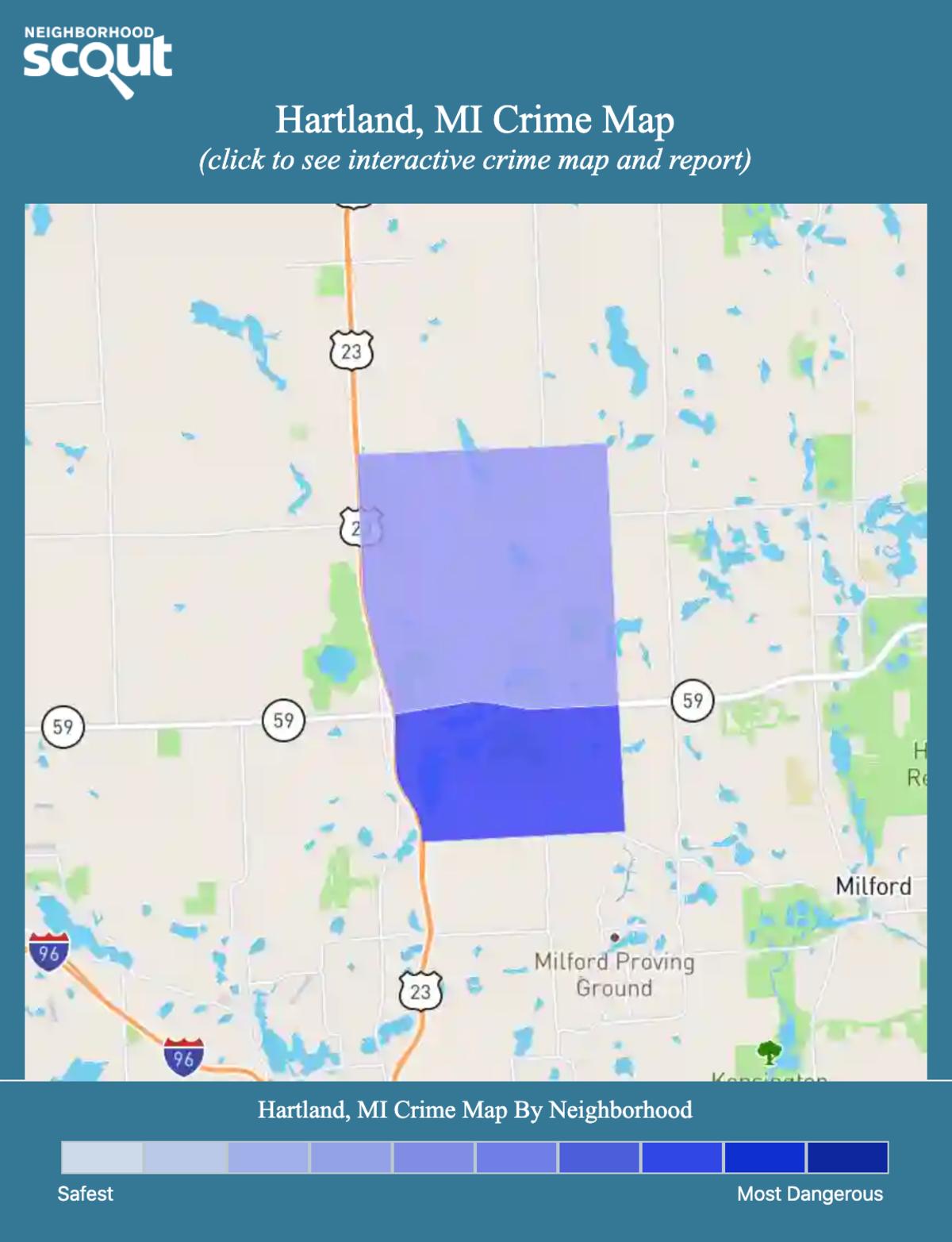 Hartland, Michigan crime map
