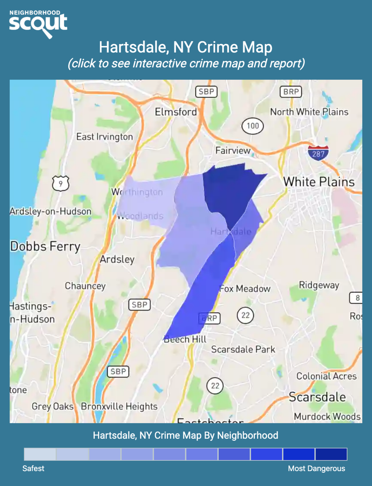 Hartsdale, New York crime map