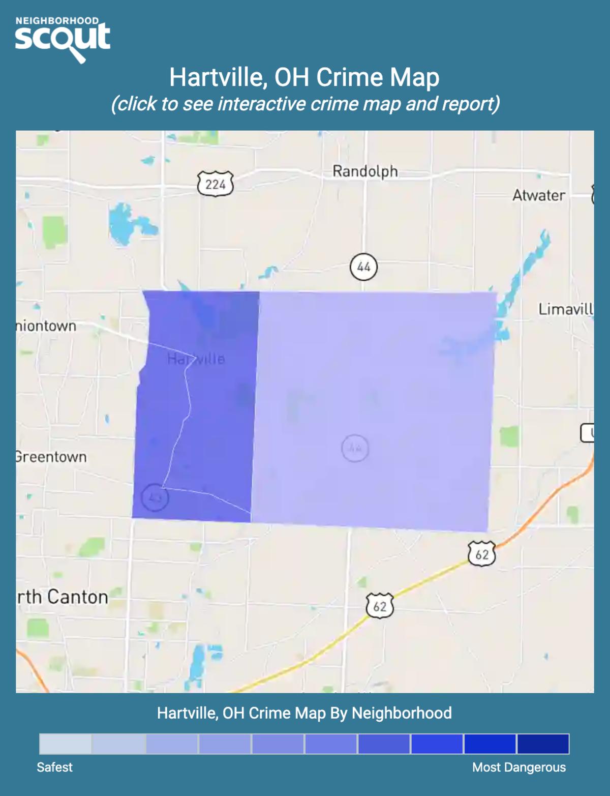 Hartville, Ohio crime map