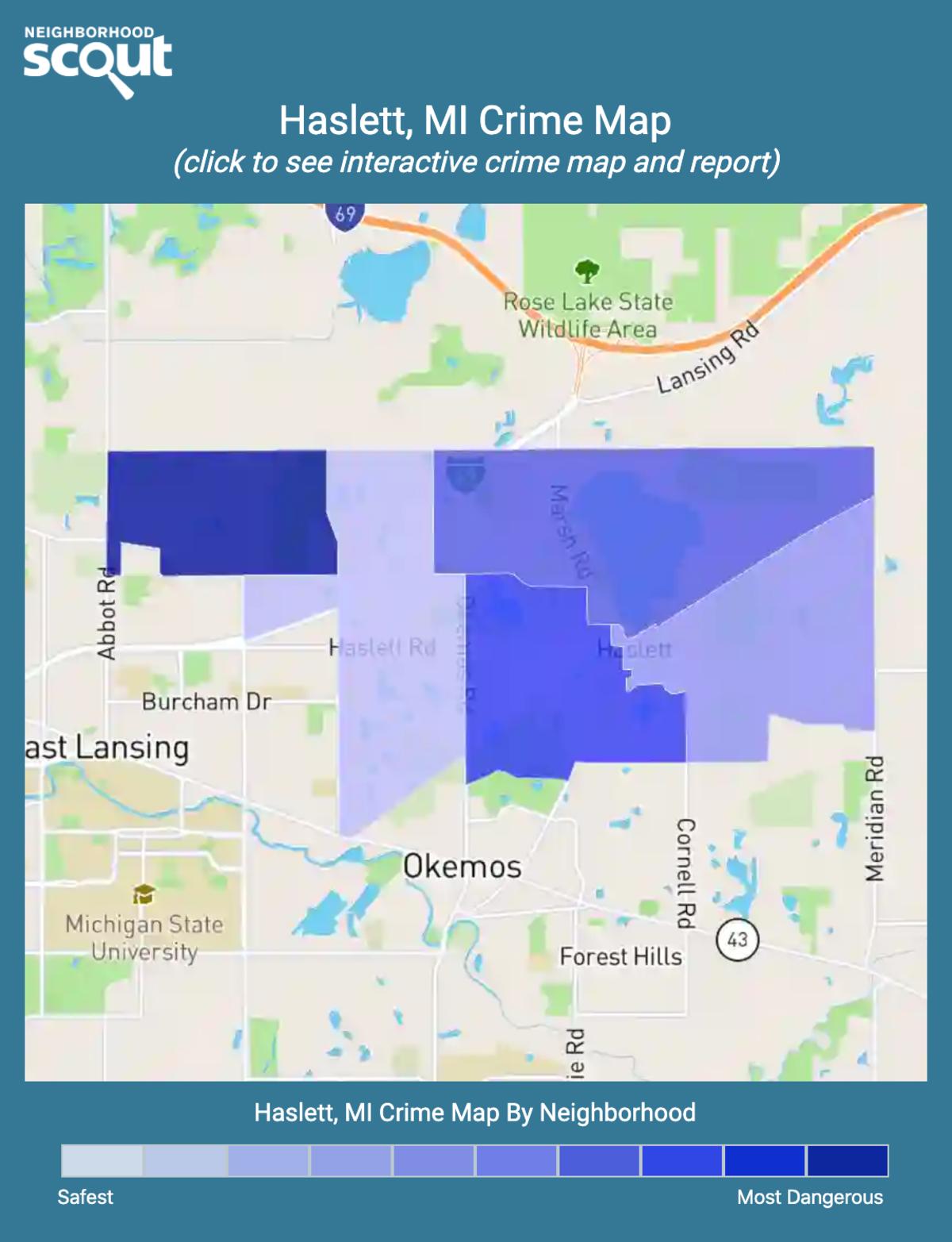 Haslett, Michigan crime map
