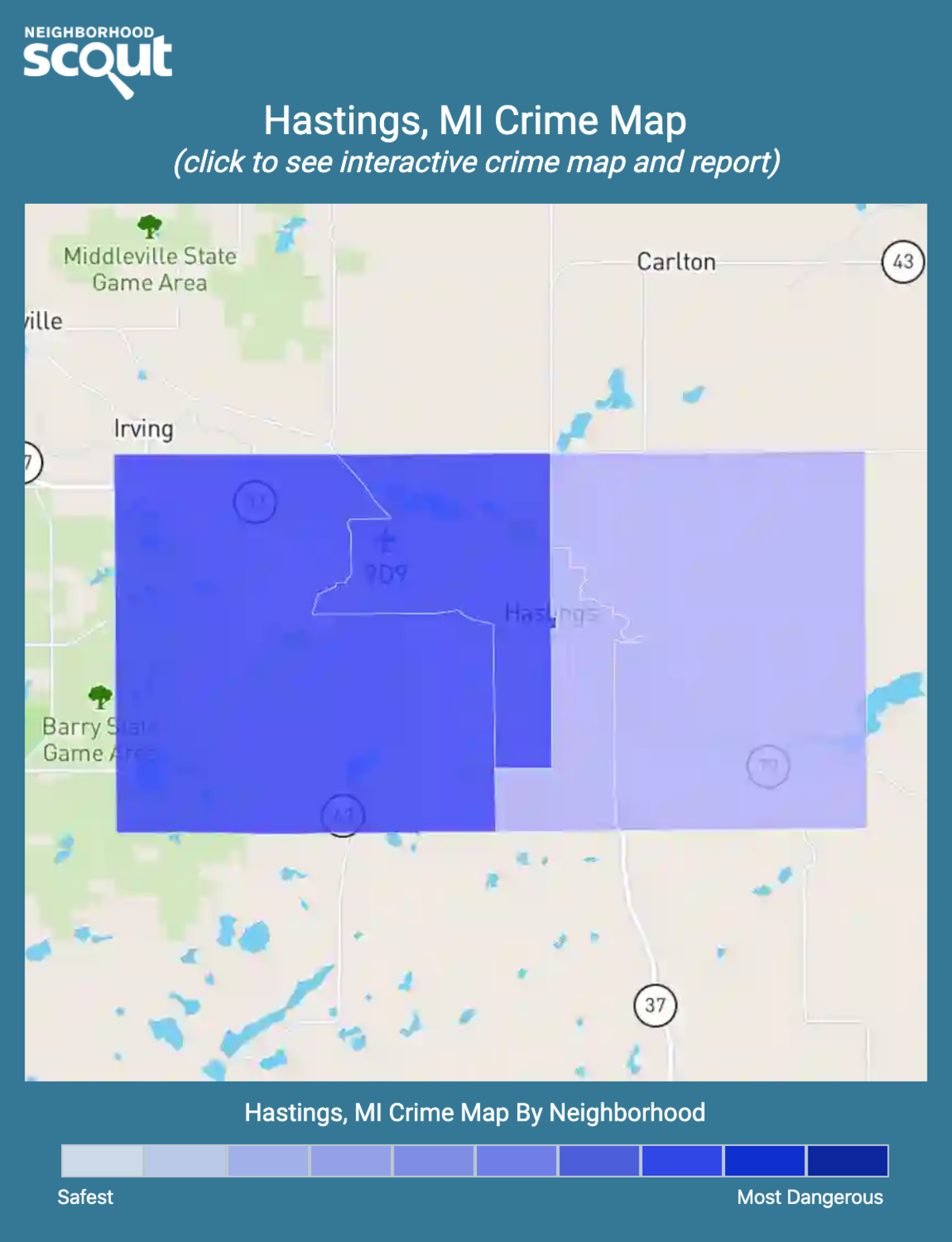 Hastings, Michigan crime map