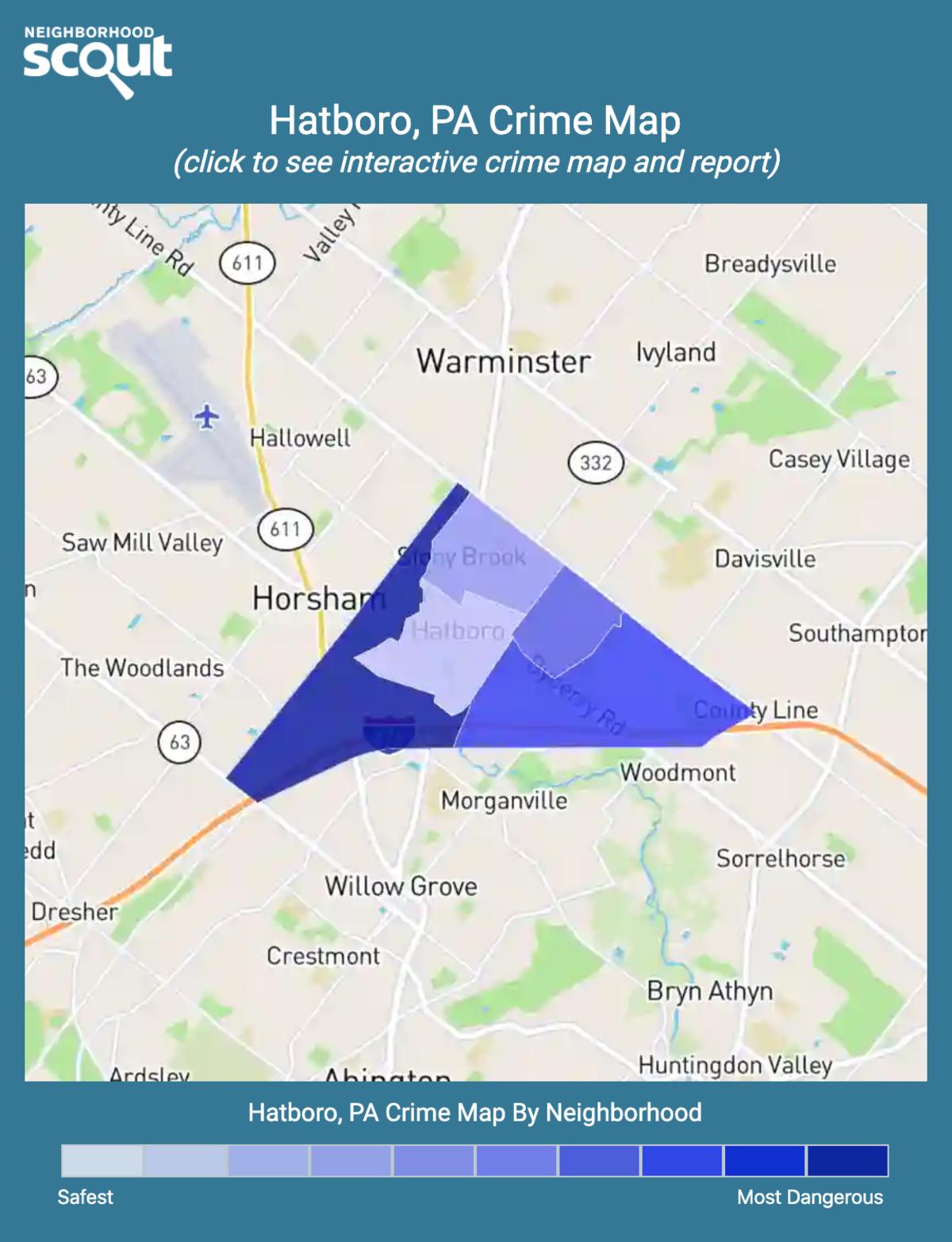 Hatboro, Pennsylvania crime map