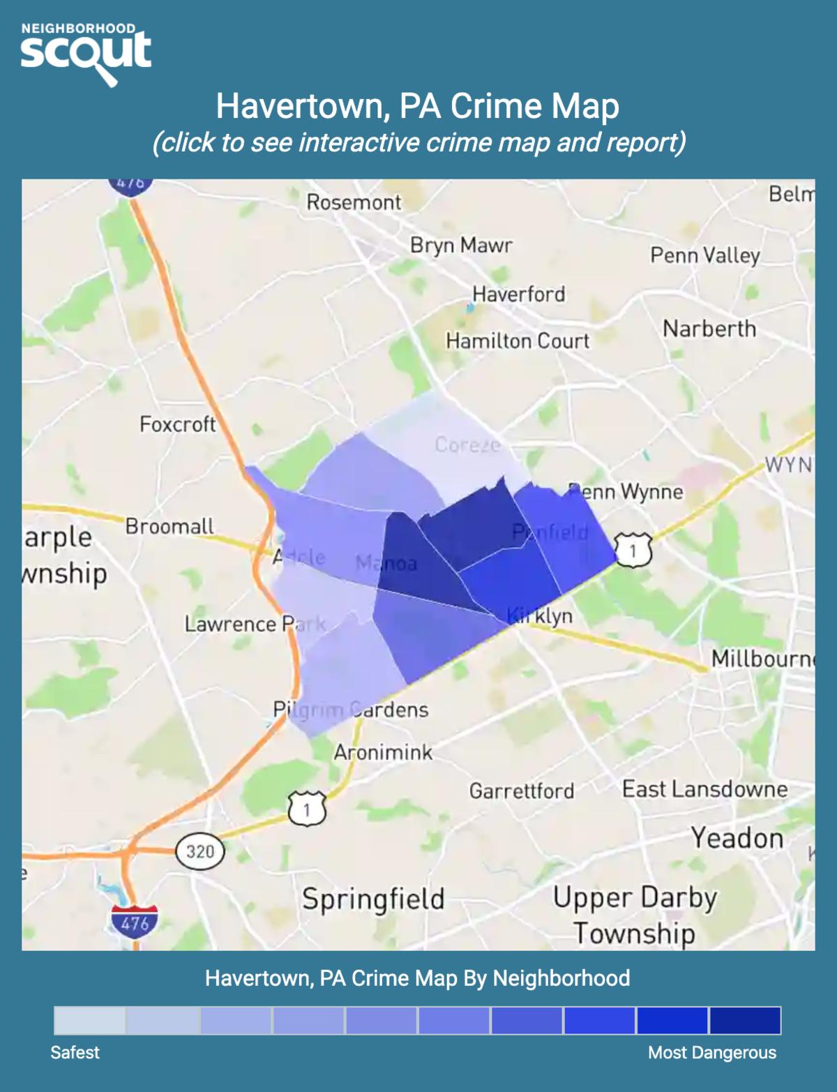 Havertown, Pennsylvania crime map