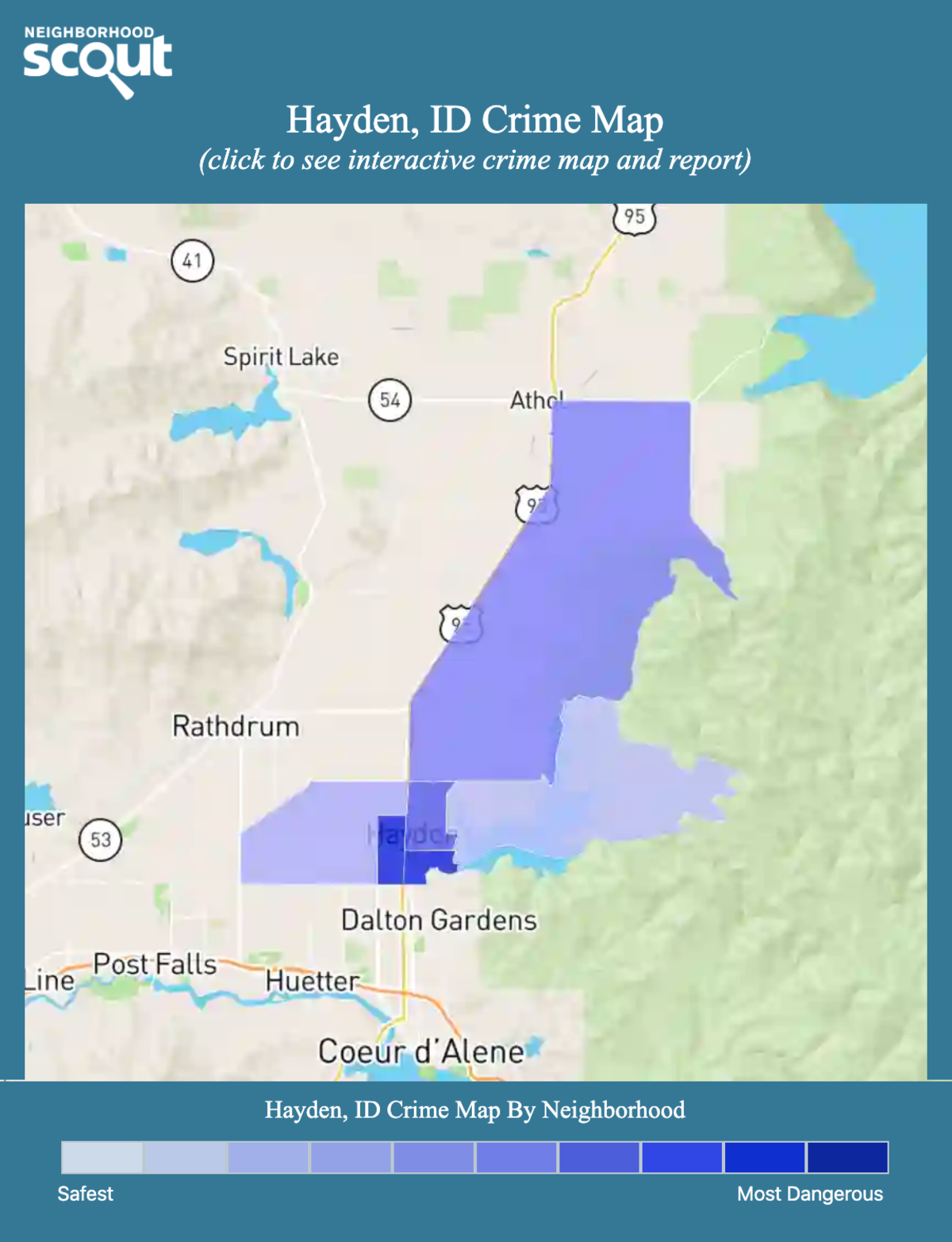 Hayden, Idaho crime map