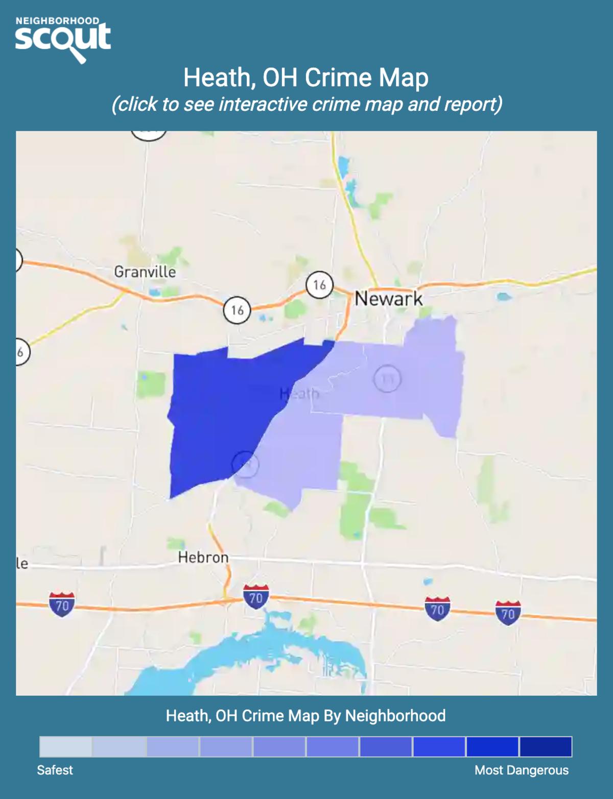 Heath, Ohio crime map