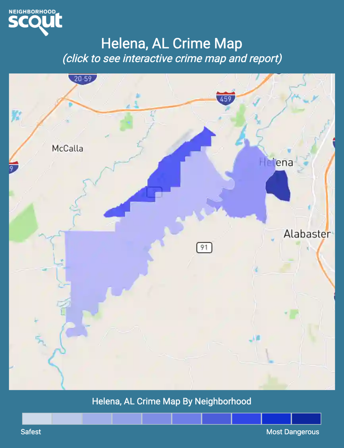 Helena, Alabama crime map
