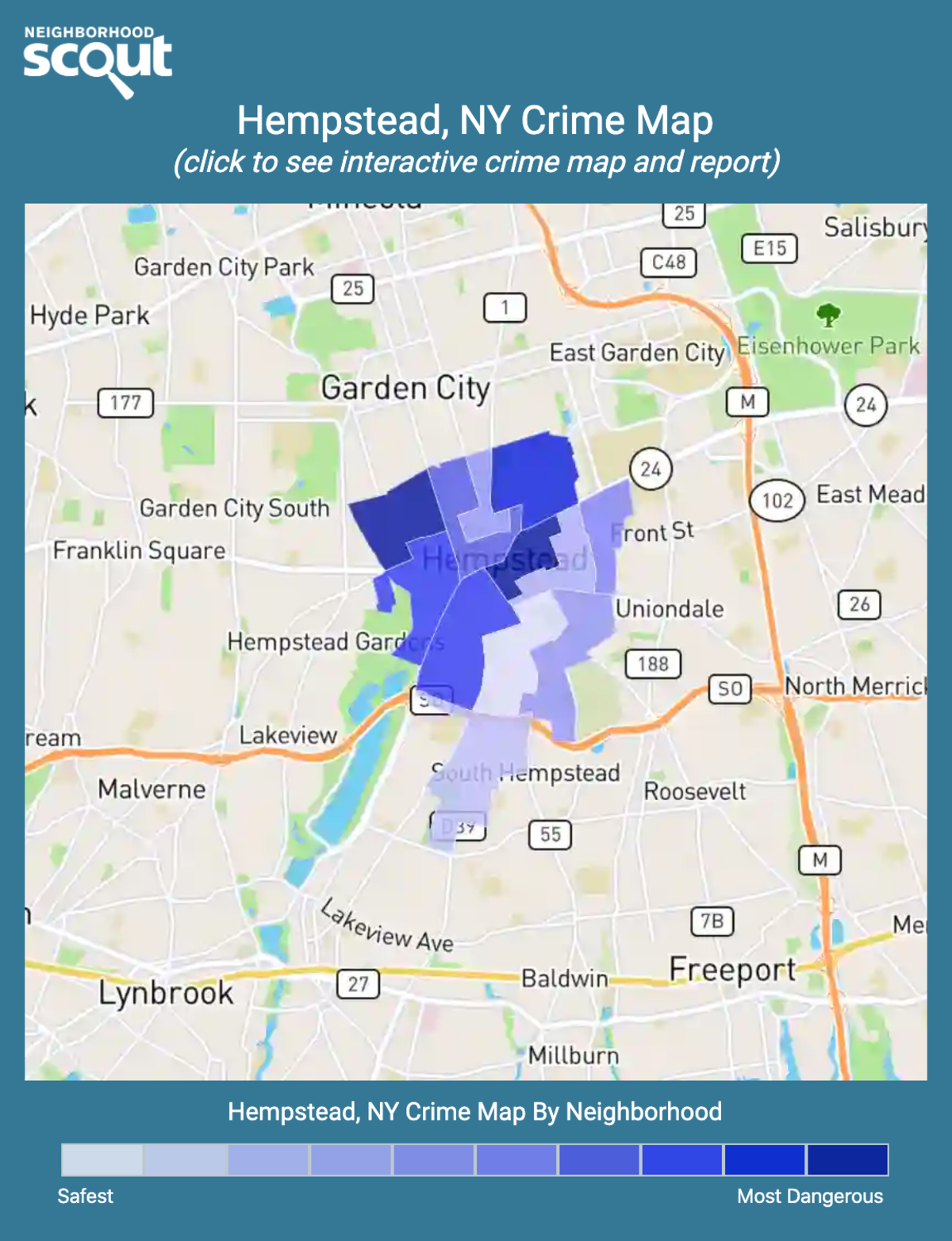 Hempstead, New York crime map