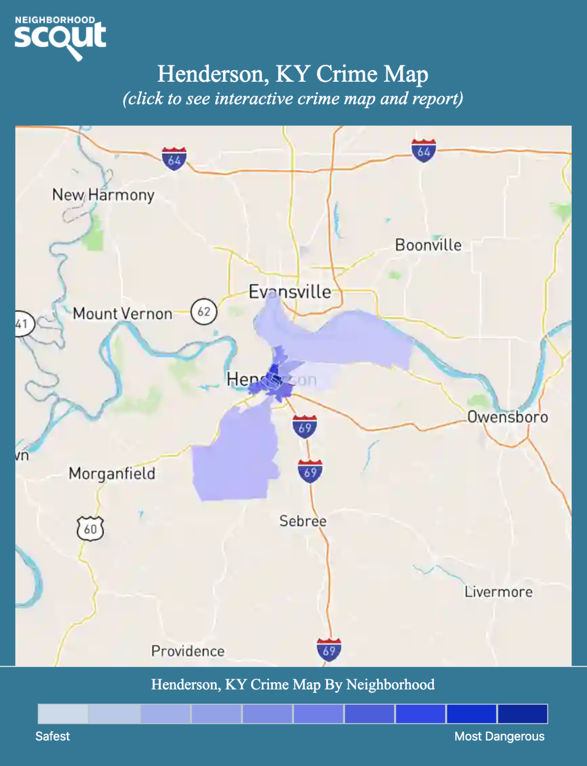 Henderson, Kentucky crime map