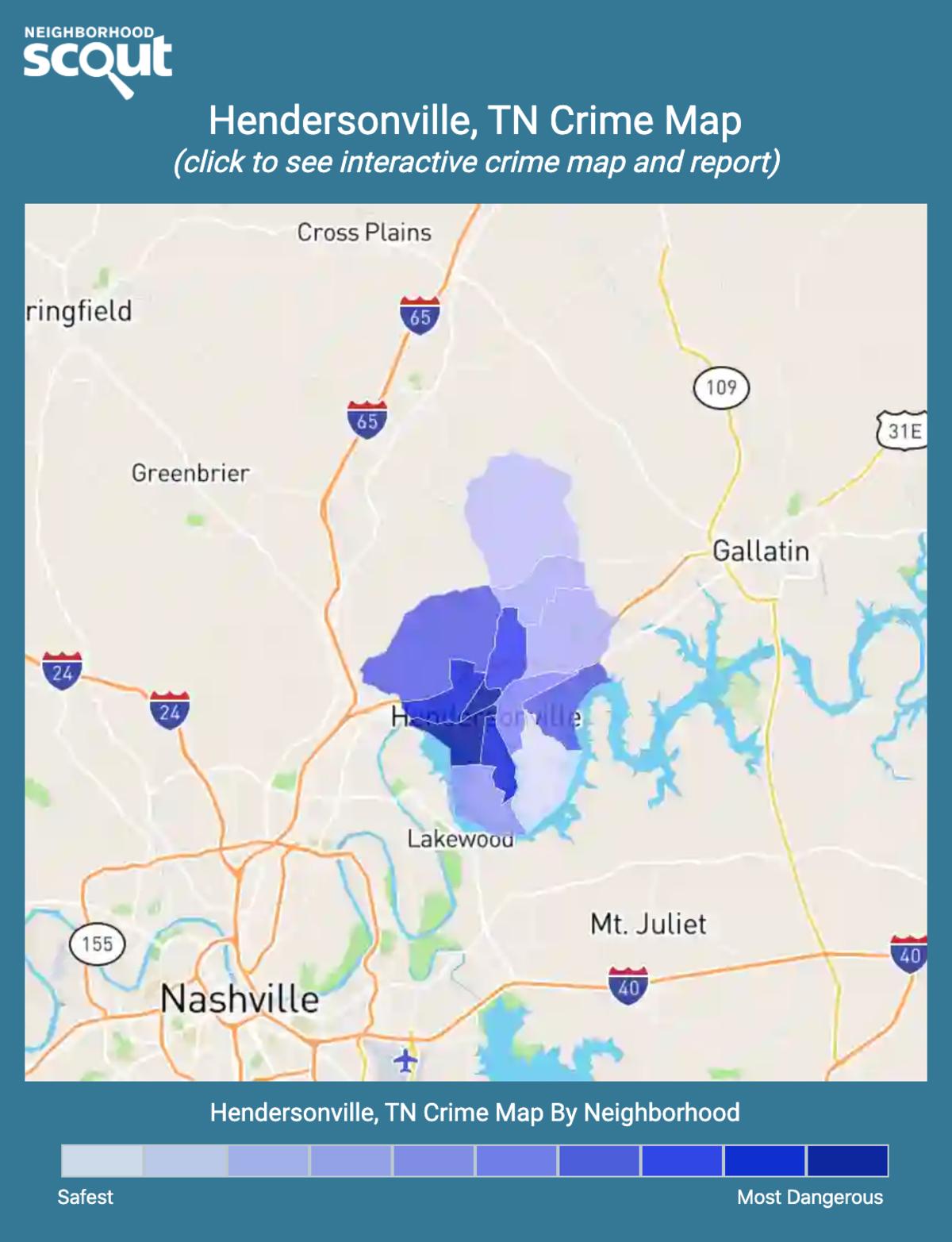 Hendersonville, Tennessee crime map
