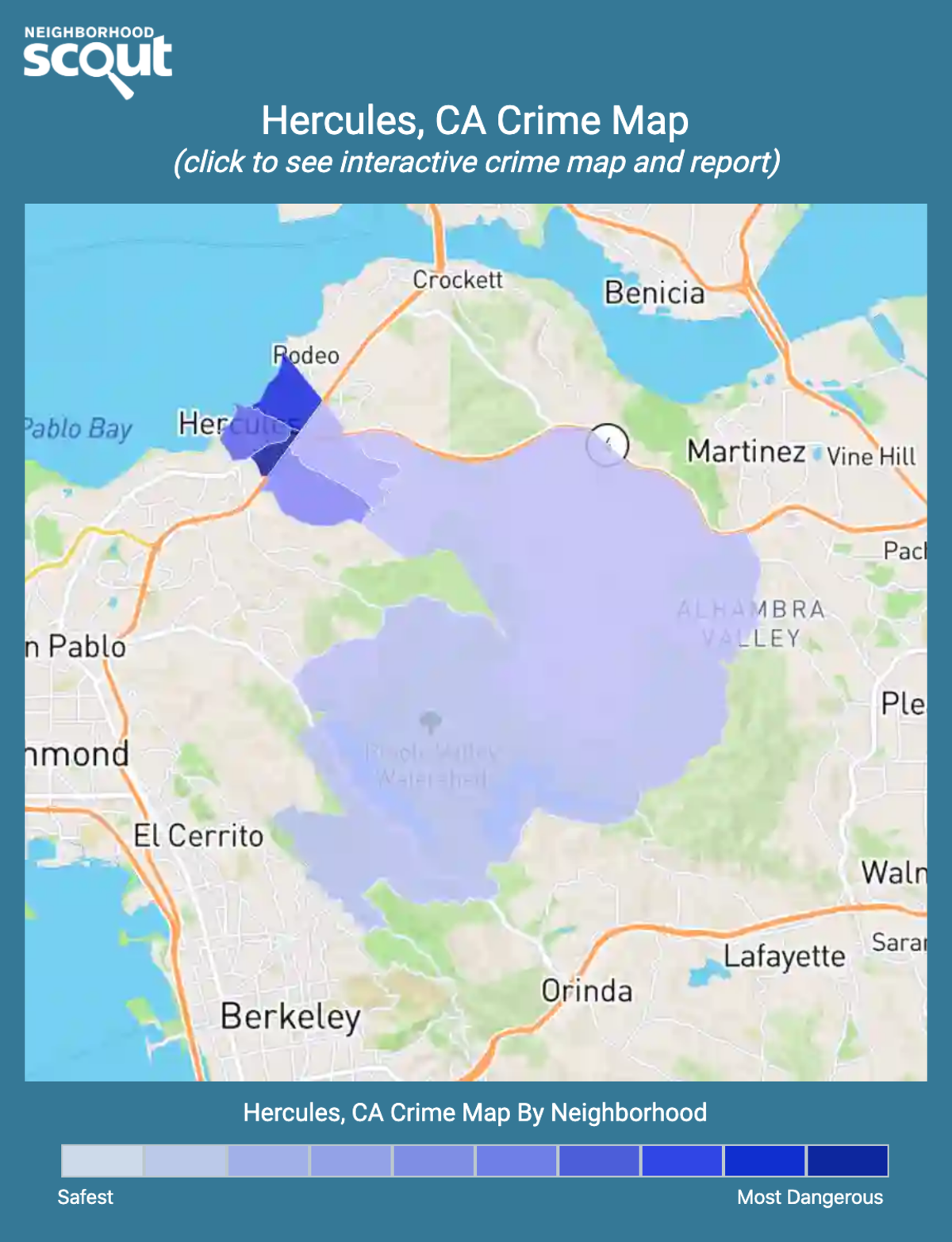 Hercules, California crime map